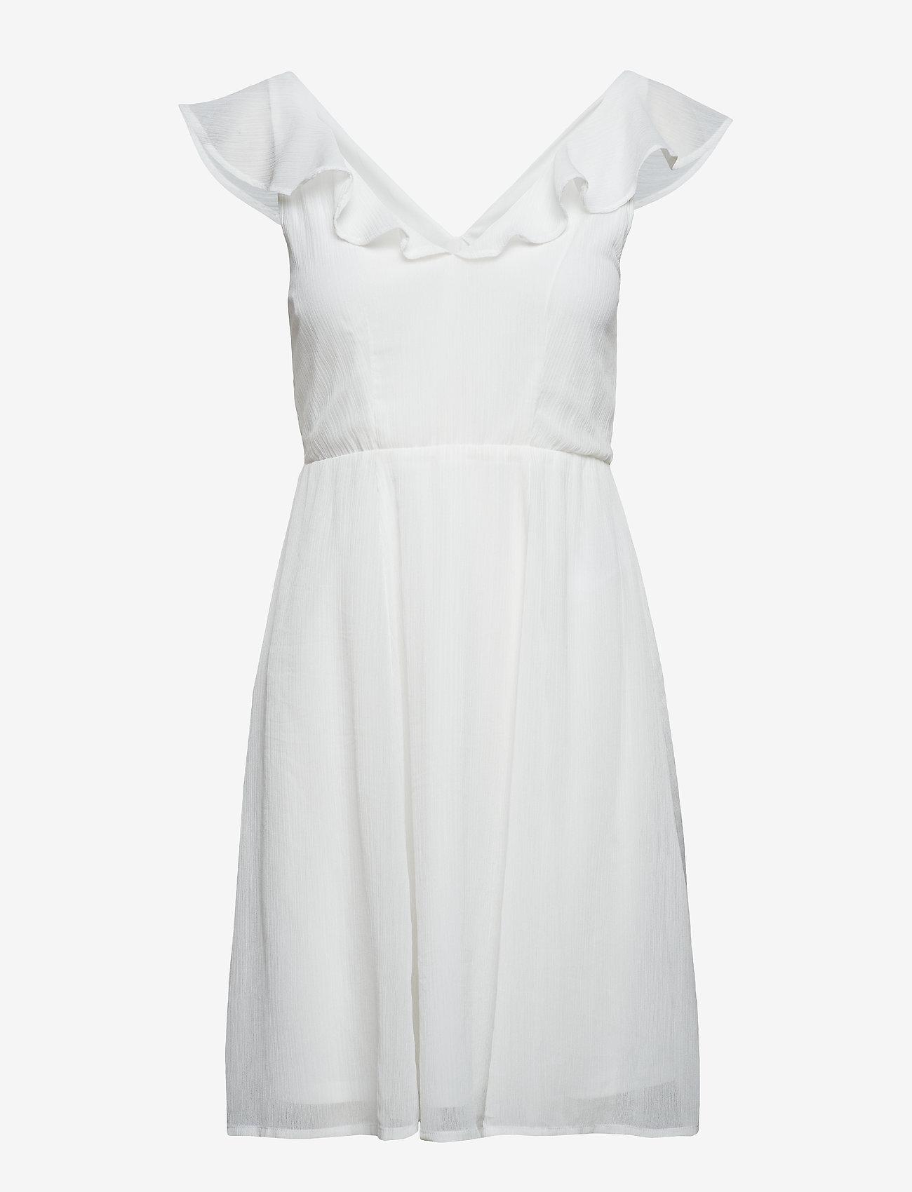 Vila - VIRANNSIL S/L SHORT DRESS/ZA - short dresses - cloud dancer - 0