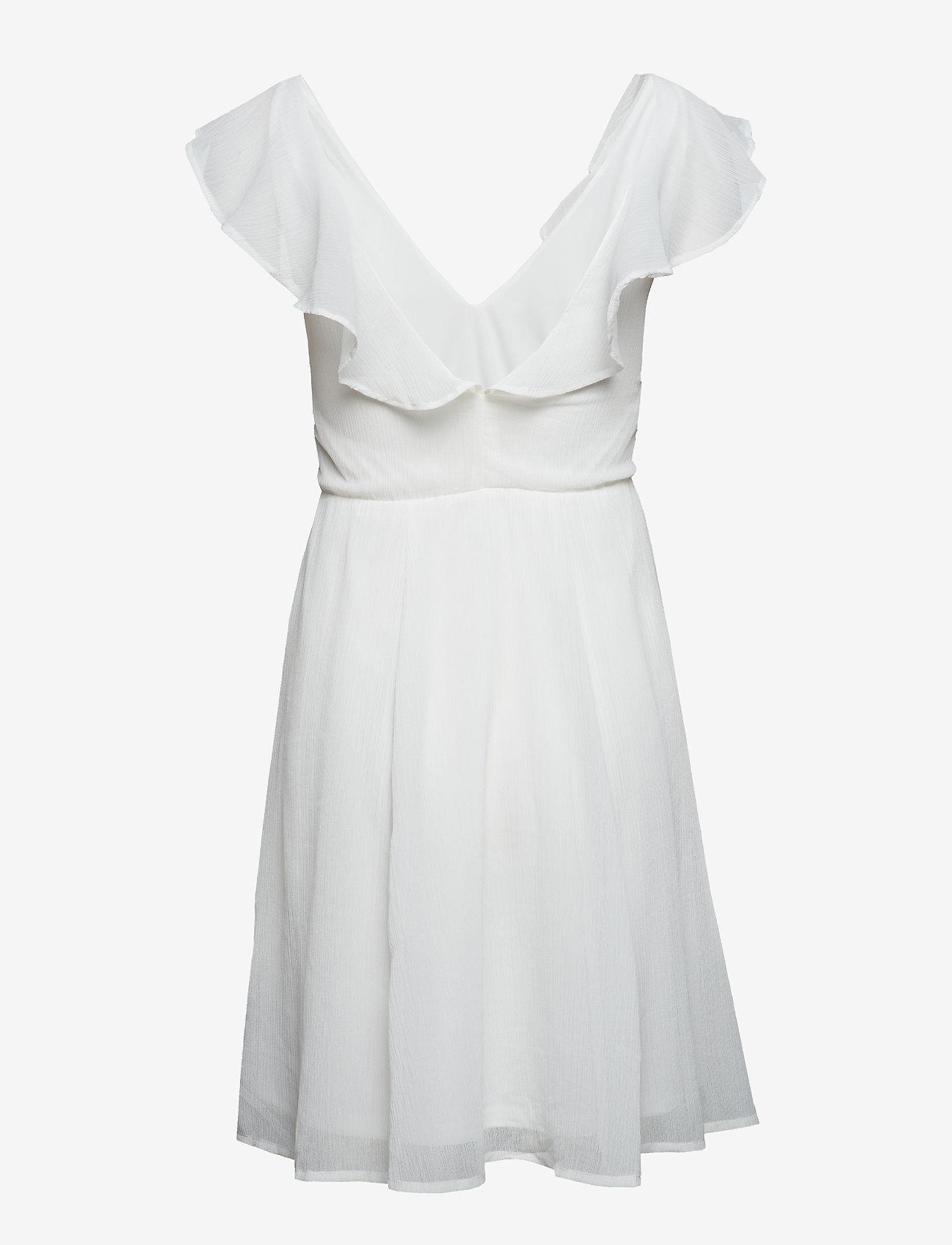 Vila - VIRANNSIL S/L SHORT DRESS/ZA - short dresses - cloud dancer - 1