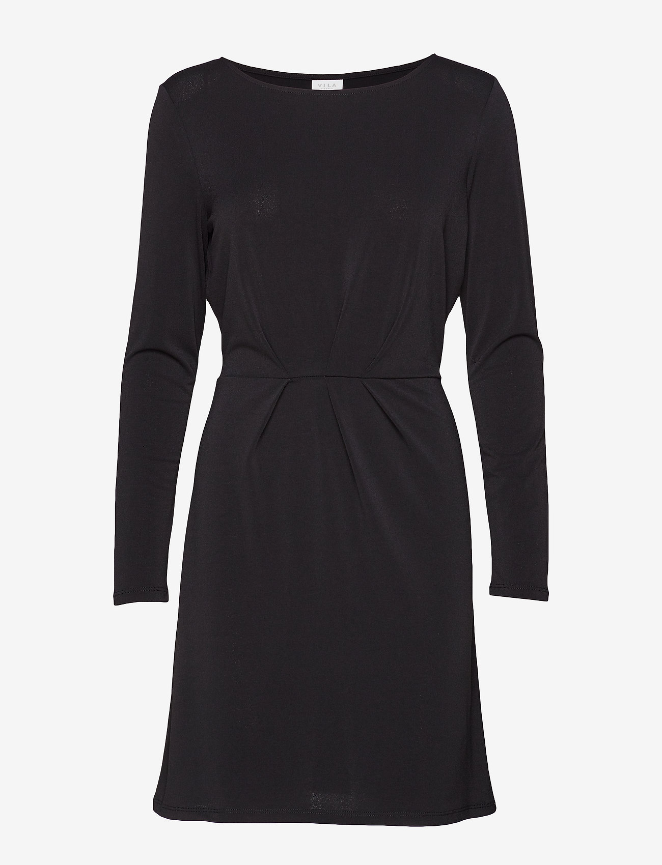 Vila - VICLASSY L/S DETAIL DRESS - NOOS - short dresses - black - 0