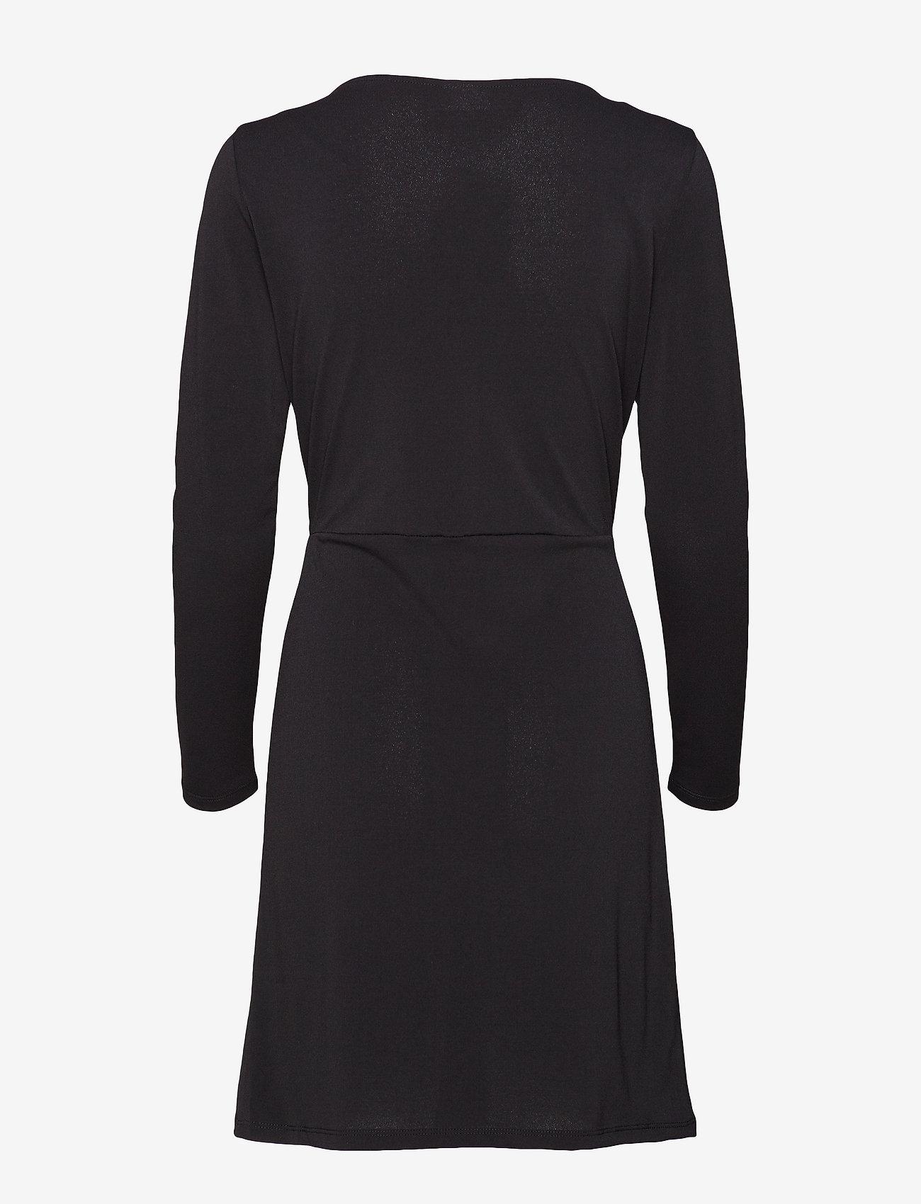 Vila - VICLASSY L/S DETAIL DRESS - NOOS - short dresses - black - 1