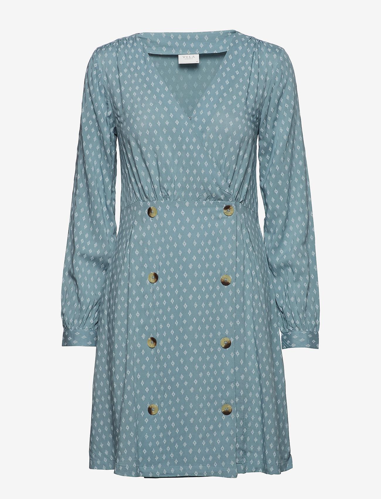 Vila - VIDIAM L/S DRESS - short dresses - citadel - 0