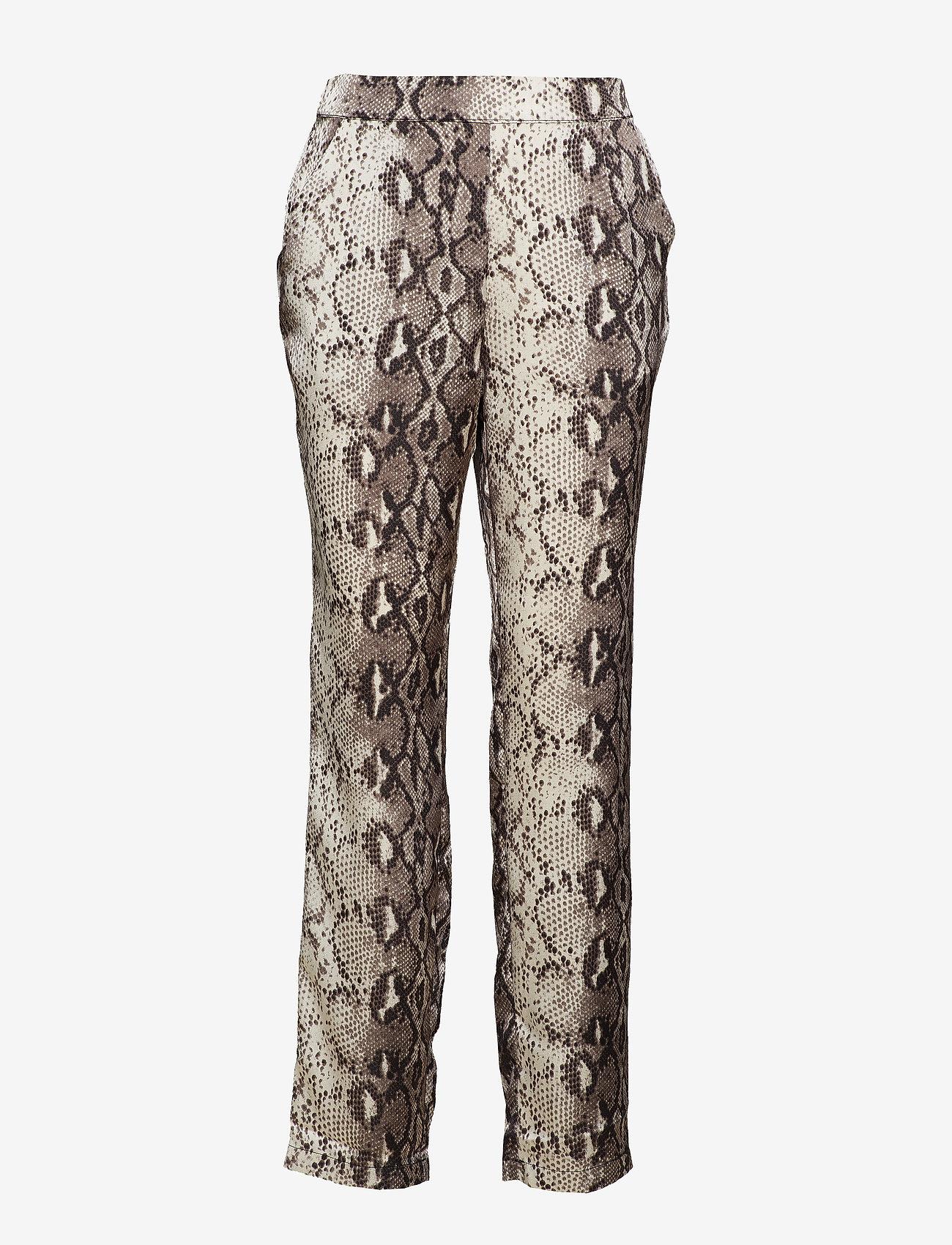 Vila - VIPINJA PANTS /RX - straight leg trousers - cloud dancer - 0
