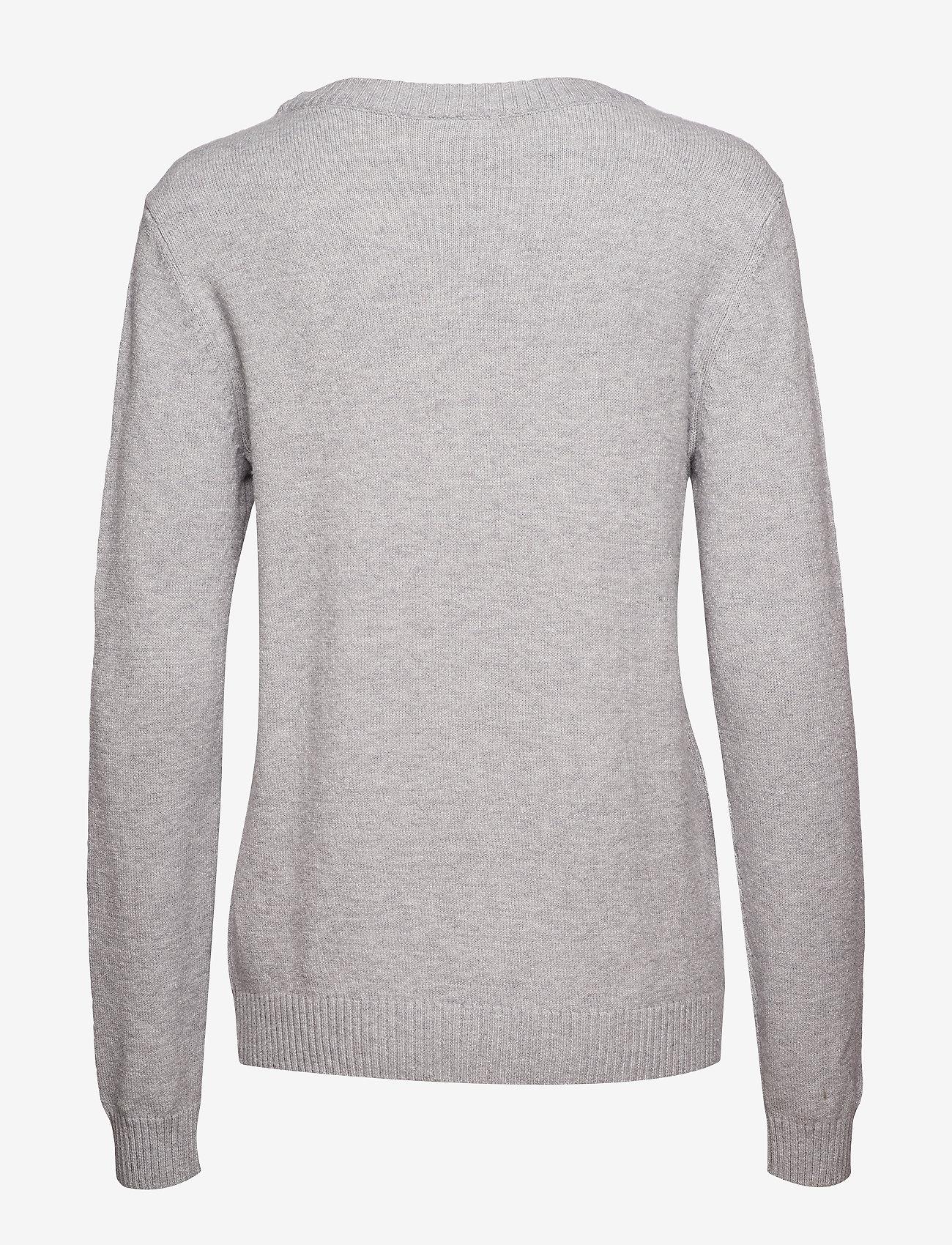 Viril O-neck L/s Knit Top - Noos (Light Grey Melange) - Vila qqG3VB