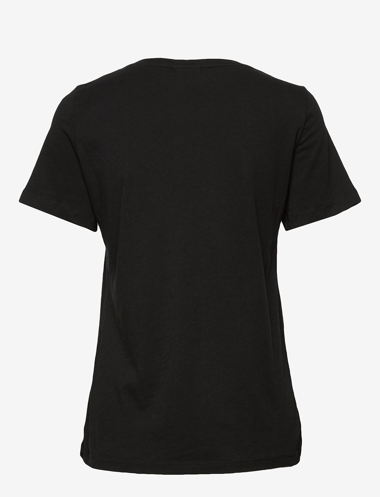 Vila - VISUS O-NECK S/S T-SHIRT/SU - NOOS - t-shirts - black - 1