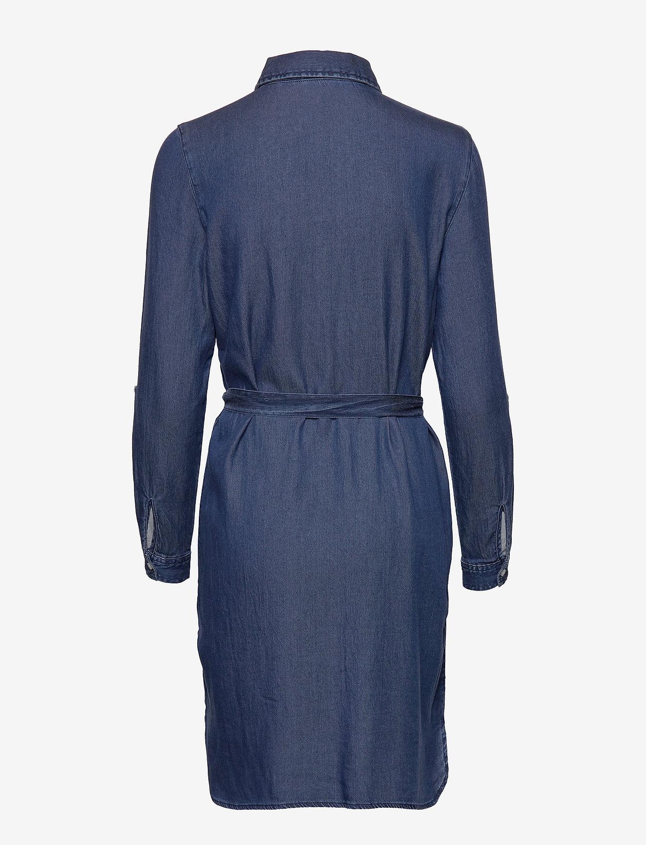 Vila - VIBISTA DENIM BELT DRESS/SU - NOOS - shirt dresses - dark blue denim - 1