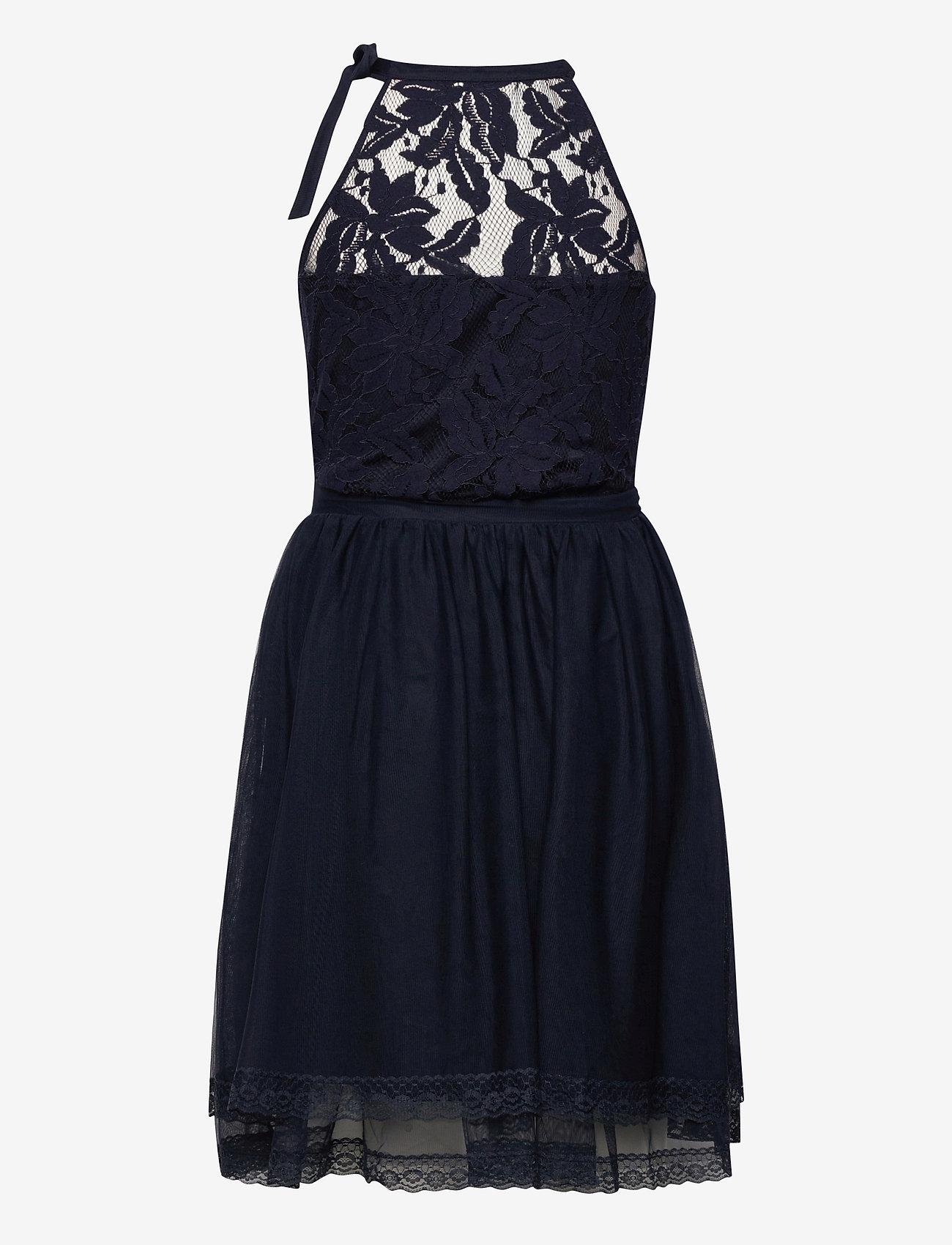 Vila - VIZINNA NEW S/L DRESS- - blondekjoler - navy blazer - 1