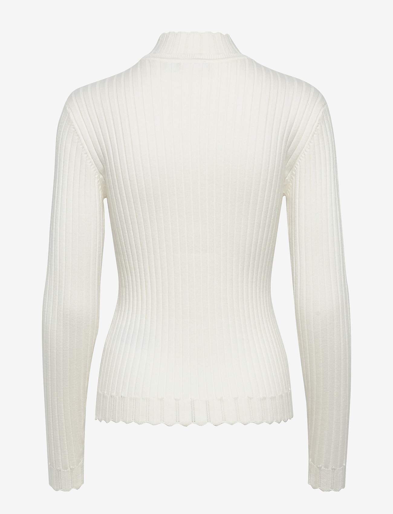 Vila VIOLIVI KNIT FUNNEL NECK L/S TOP/KI - Gebreide truien WHISPER WHITE