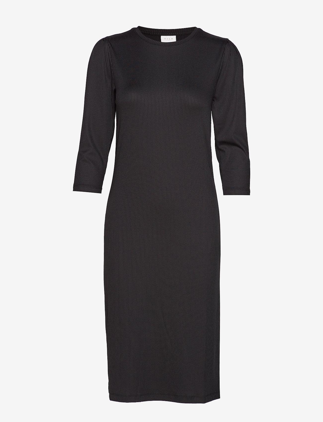 Vila - VISOFJA DRESS /KA - midi dresses - black - 0