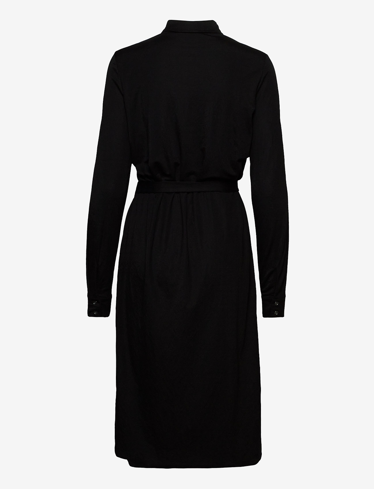 Vila - VISAFINA MIDI L/S DRESS - NOOS - shirt dresses - black - 1