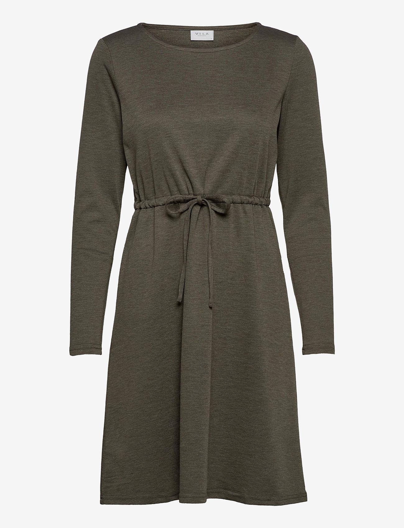 Vila - VIJUNER L/S DRESS  - NOOS - midi kjoler - forest night - 0
