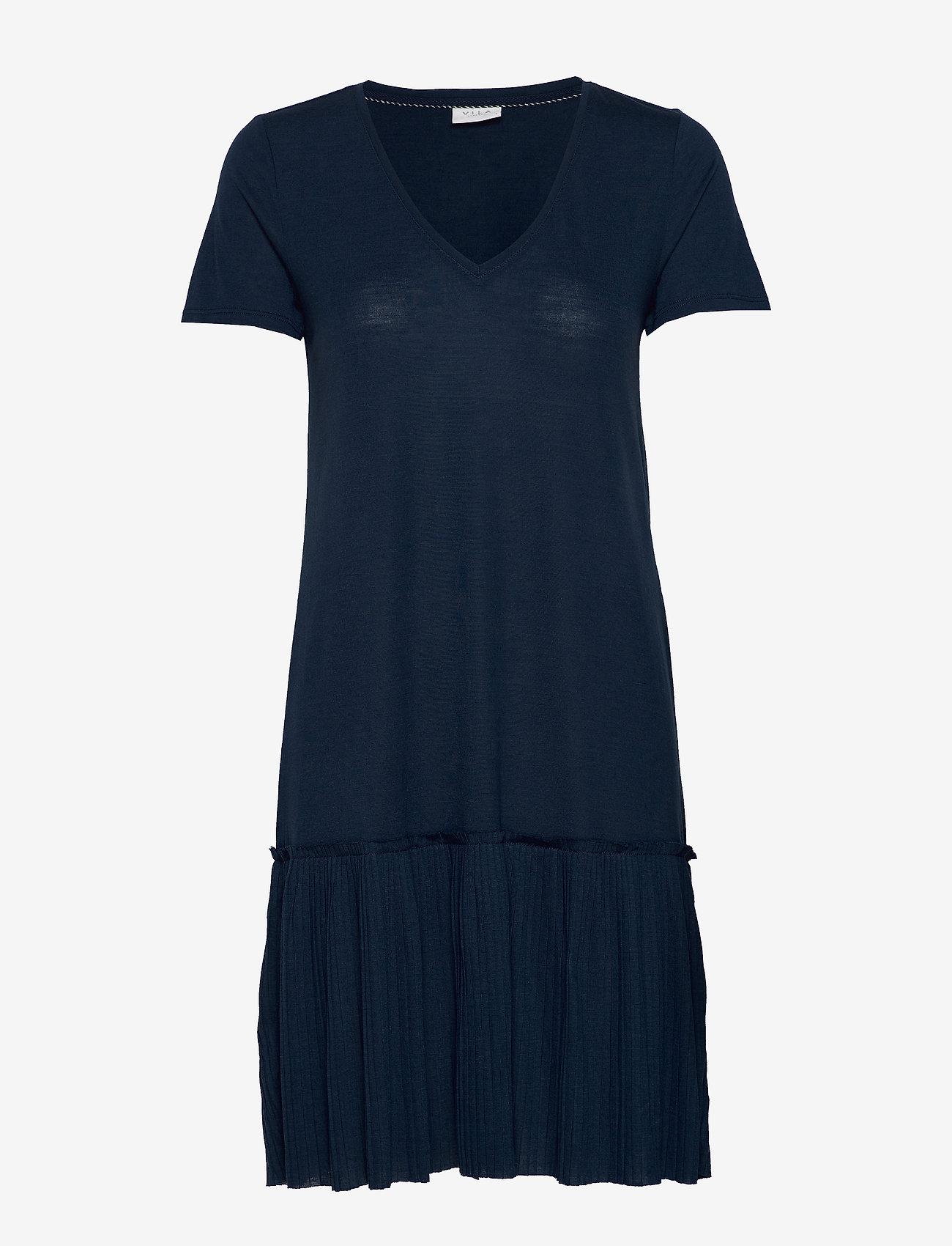 Vila - VIPLISS S/S DRESS - midi dresses - navy blazer