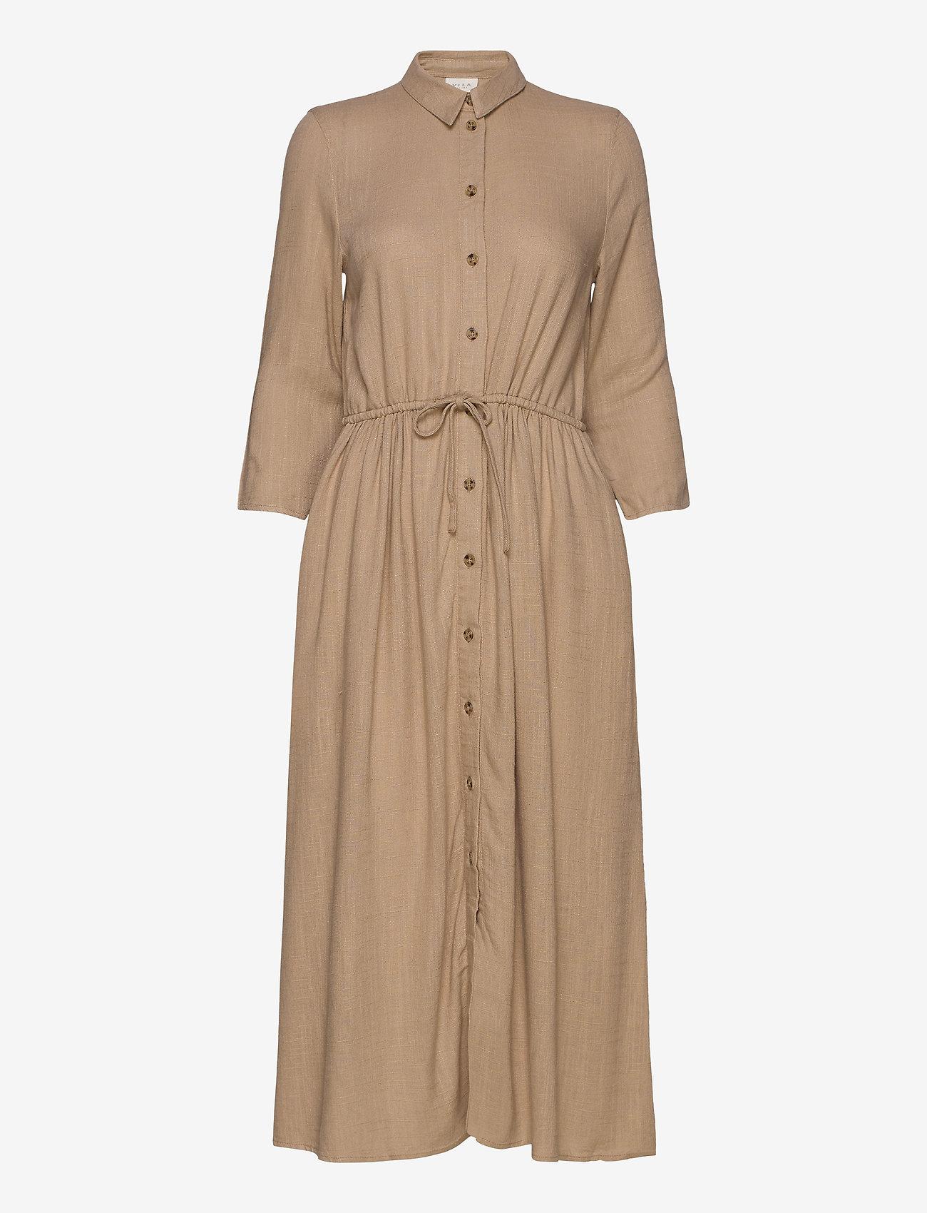 Vila - VISAFARI MIDI 3/4 DRESS - shirt dresses - nomad