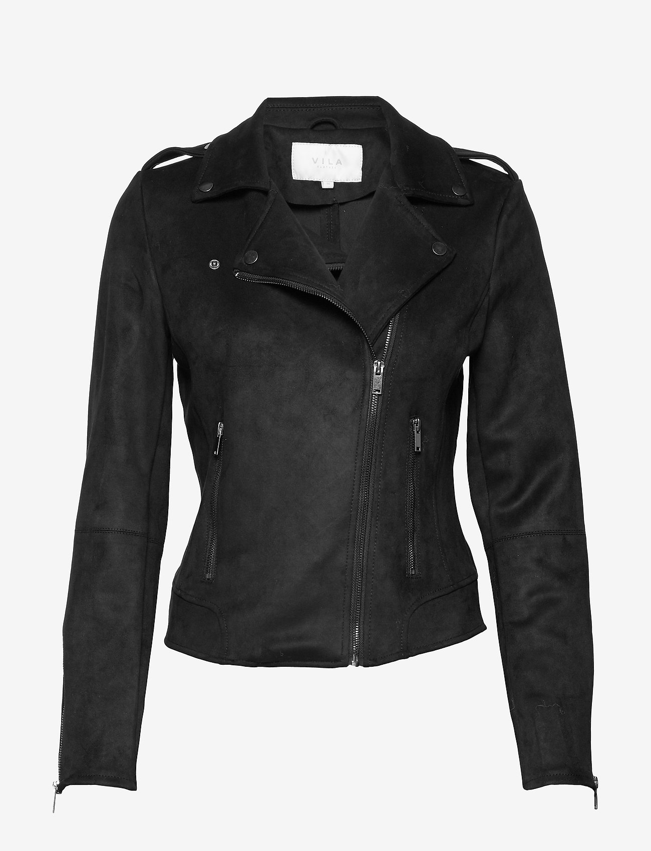 Vila - VIFADDY JACKET - NOOS - leather jackets - black - 0