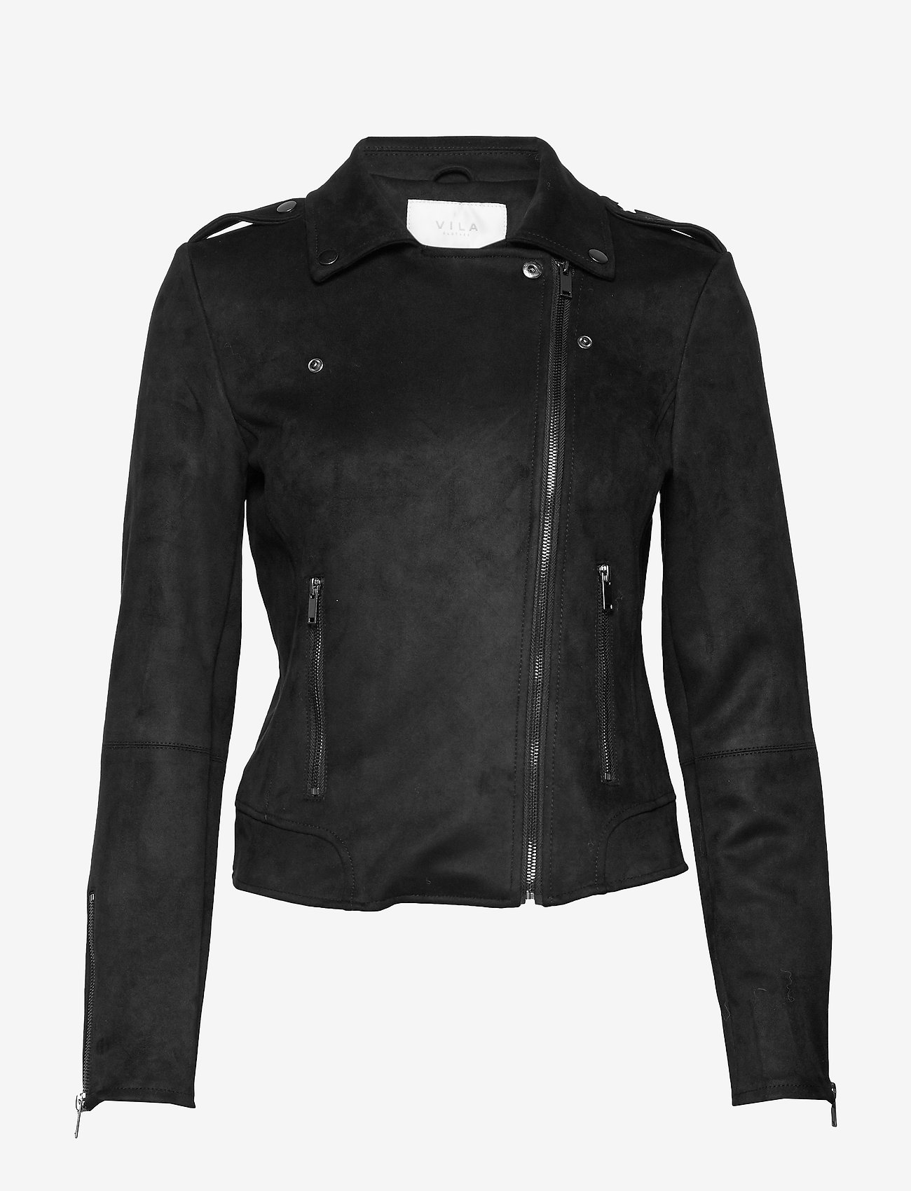 Vila - VIFADDY JACKET - NOOS - leather jackets - black - 1
