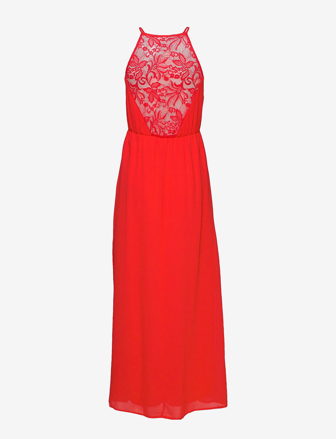 Vila - VIMICADA  S/L ANCLE DRESS/DC/SU - maxi dresses - flame scarlet