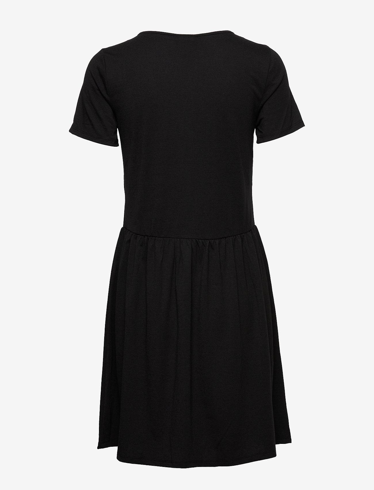 Vila - VIANIKA S/S DRESS - midi dresses - black
