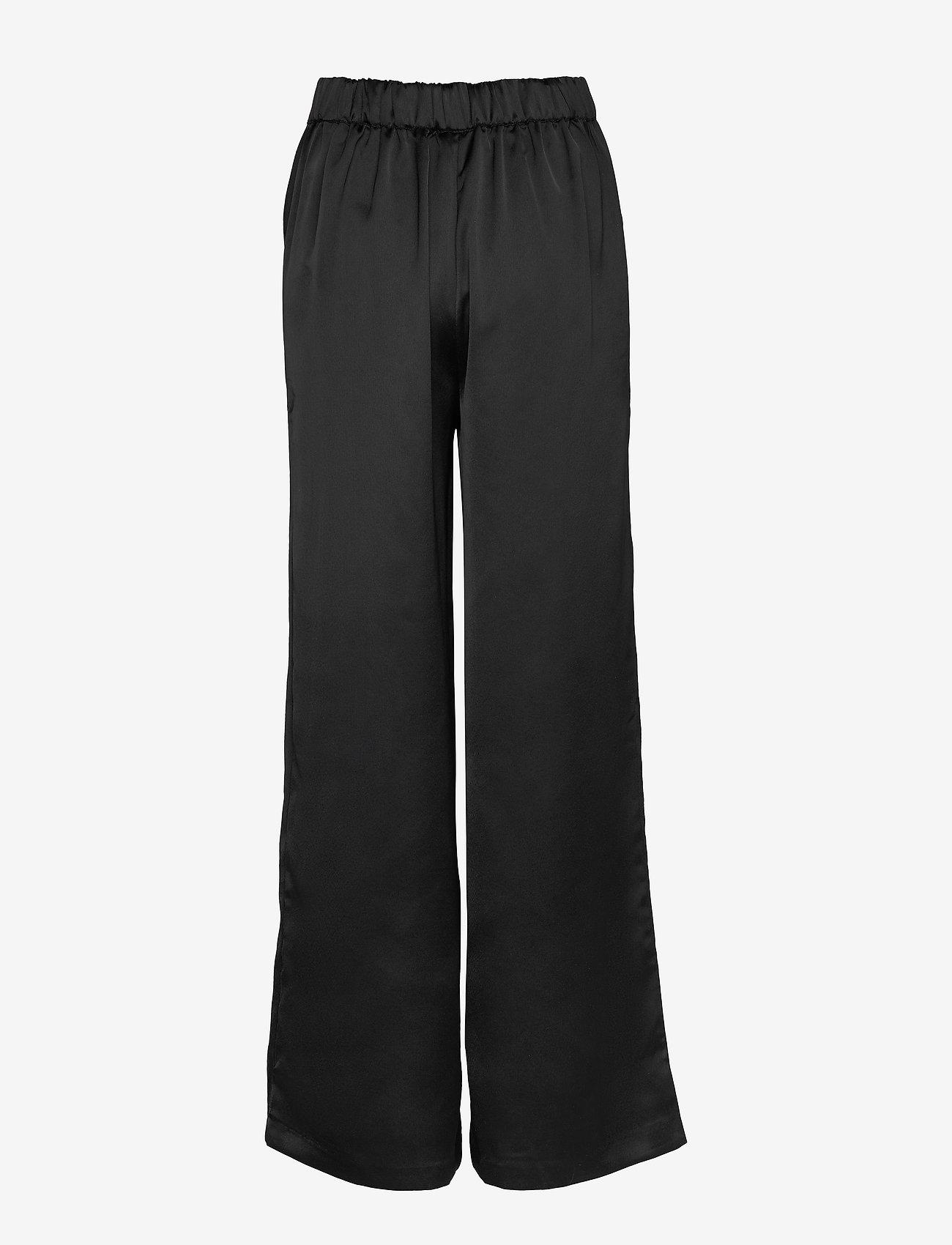 Vila - VIALICE HWRE PANTS - vide bukser - black - 1