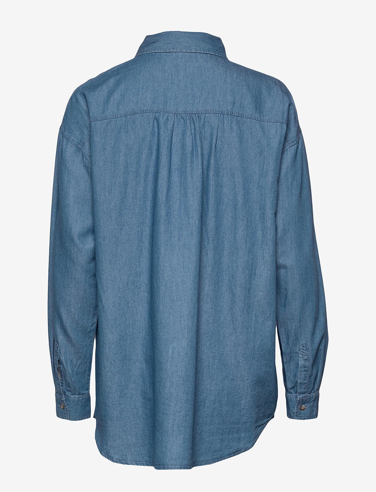 Vila Viflash L/s Shirt - Chemisier & Chemises Medium Blue Denim