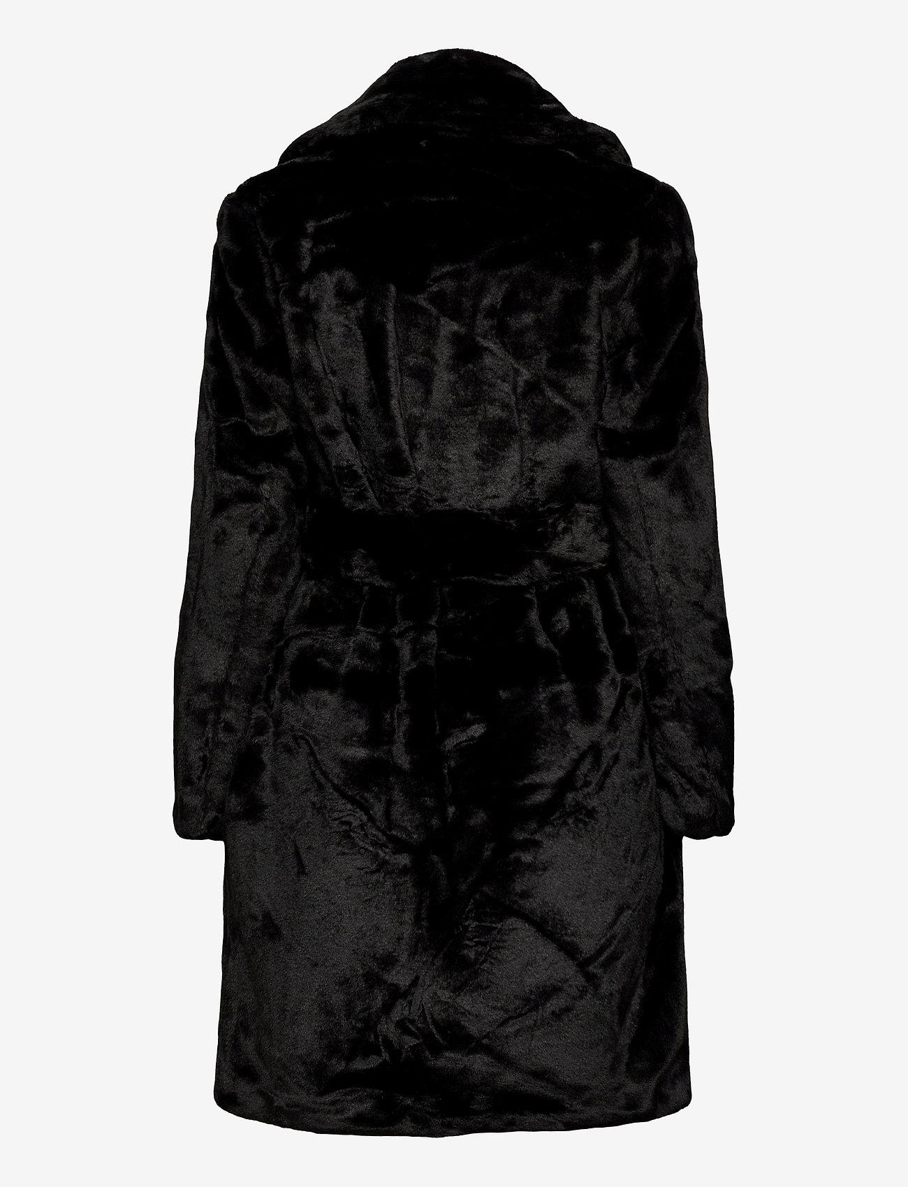 Vila - VIBODA NEW FAUX FUR COAT/PB/SU - faux fur - black - 1