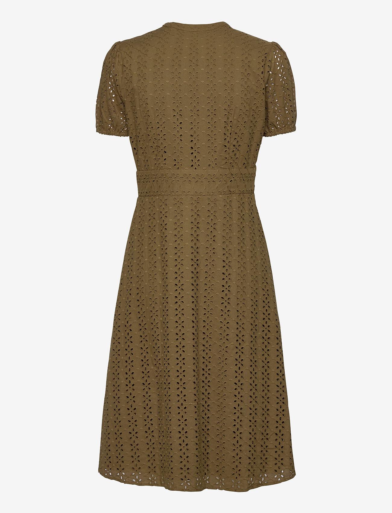 Vila - VICARLINE S/S MIDI DRESS - midi dresses - dark olive