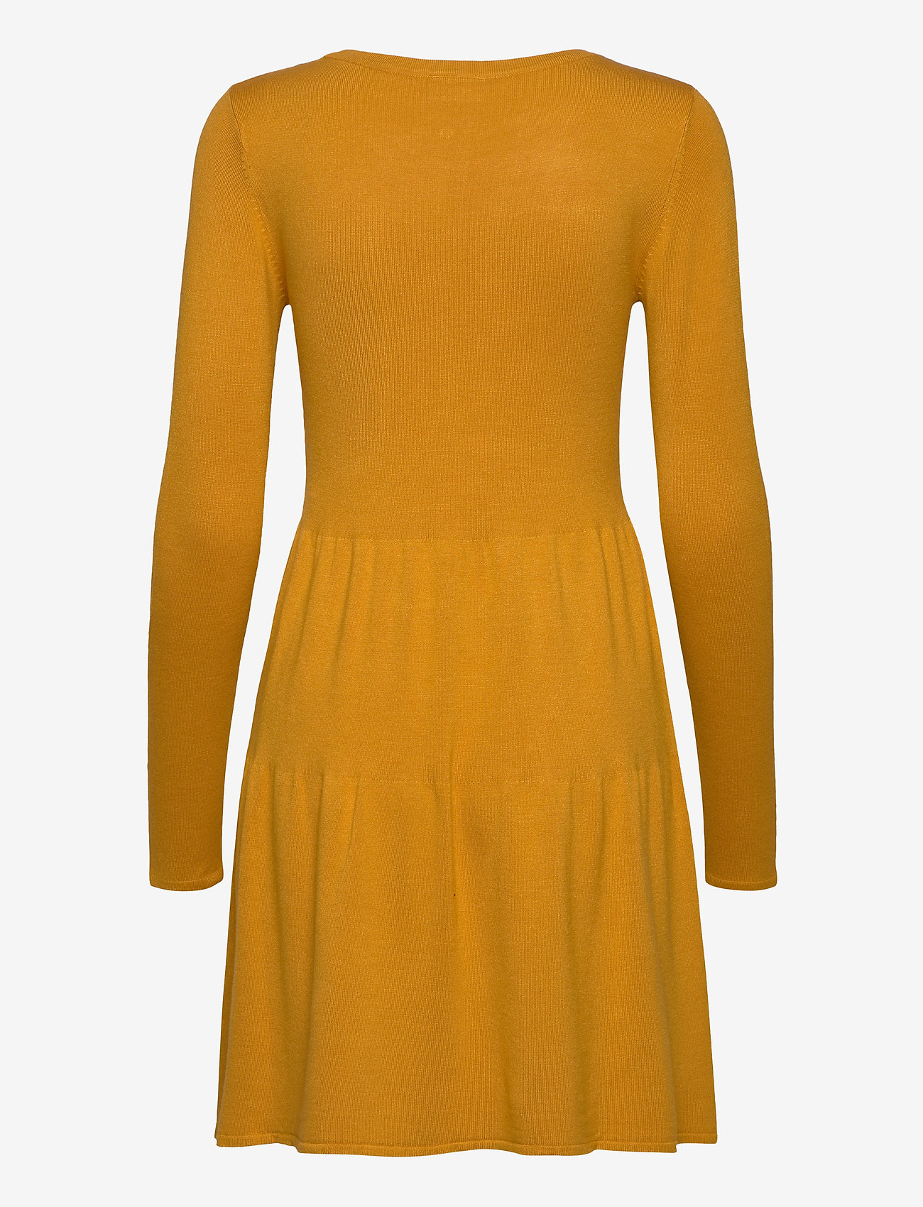 Vila - VIBOLONSIA KNIT L/S DRESS TB - midi dresses - mineral yellow - 1