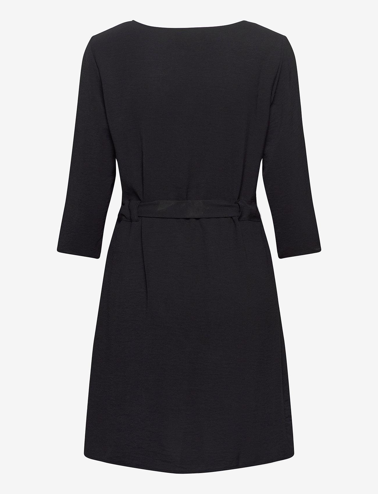 Vila - VIRASHA 3/4 DRESS - midi dresses - black - 1