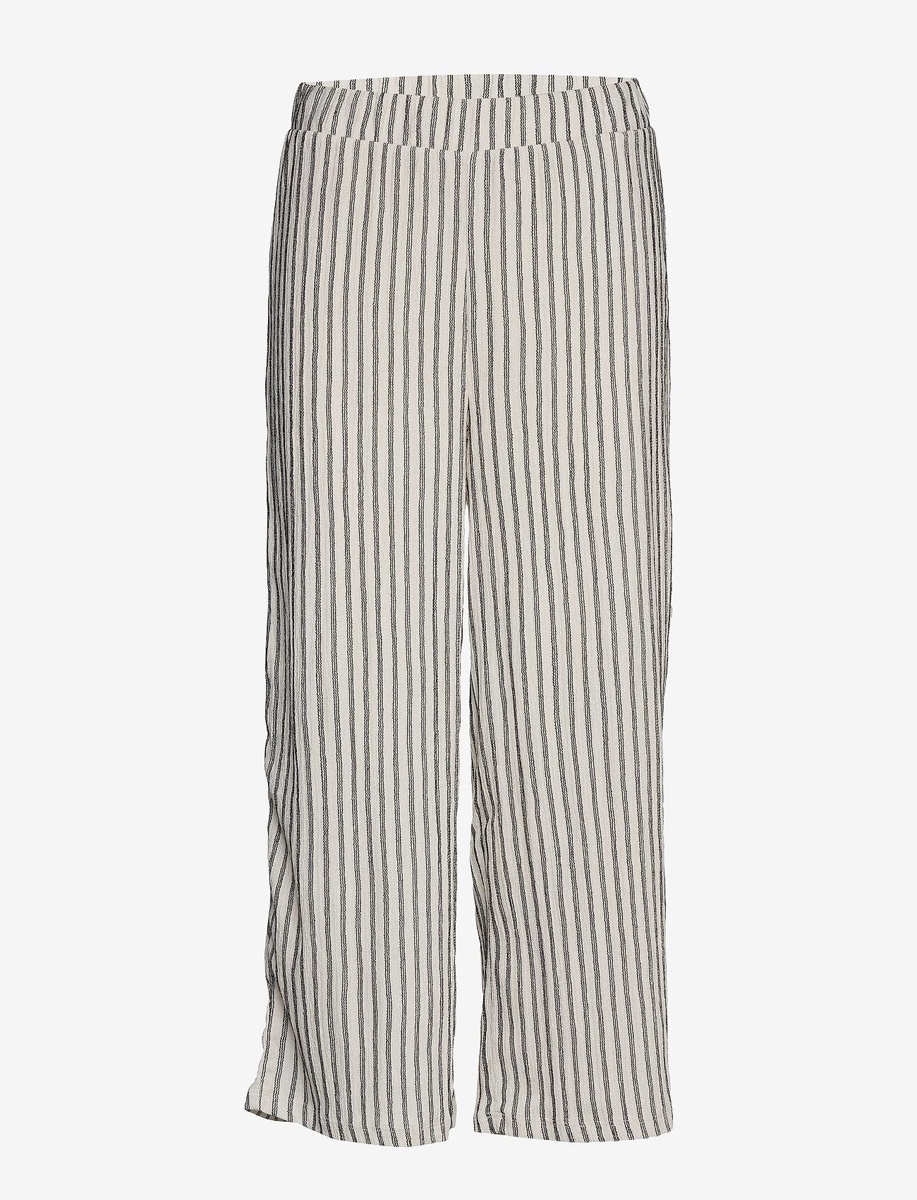 Vila - VIVANILLA HWRX CROPPED PANT - wide leg trousers - snow white