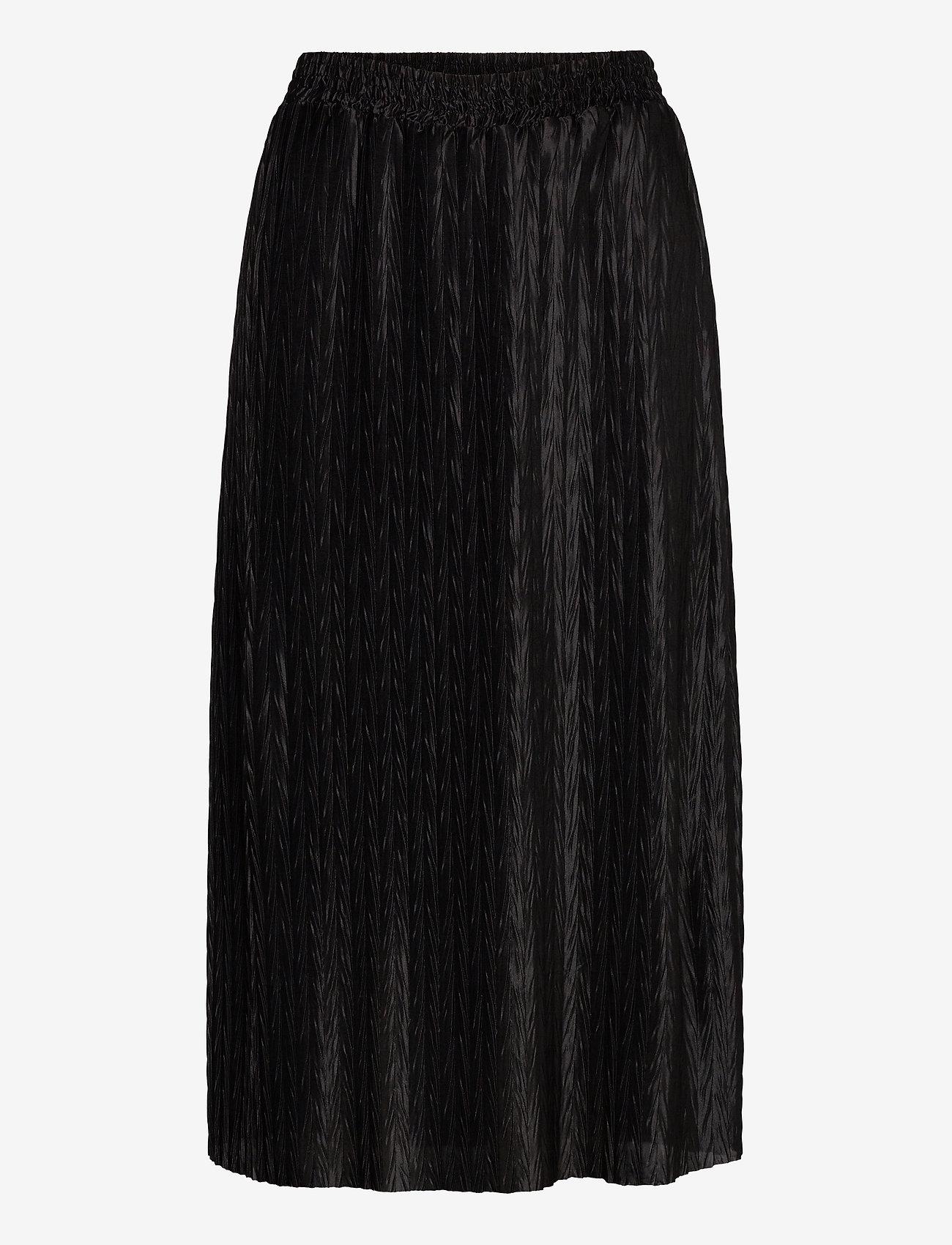 Vila - VIPLEASA HW MIDI SKIRT/DES - maxi skirts - black - 0