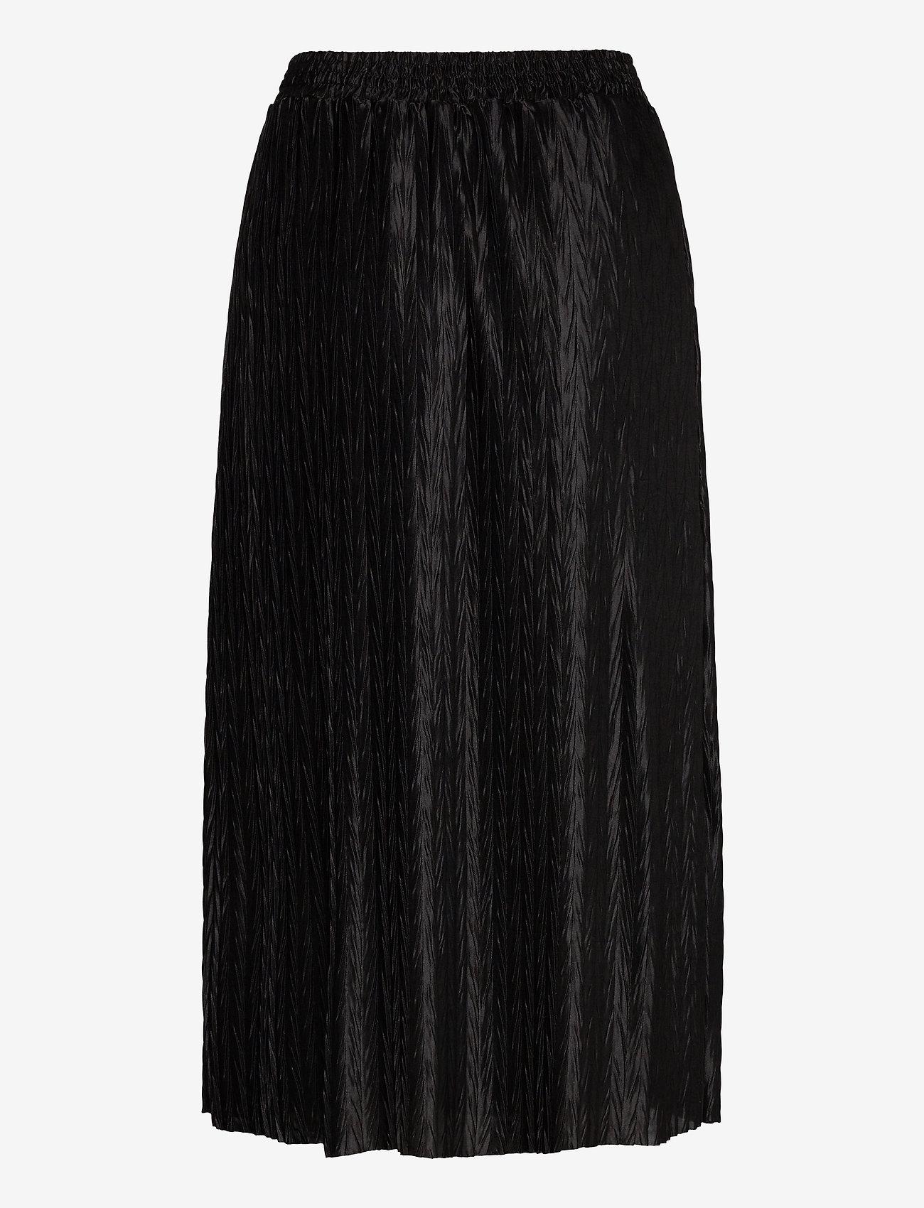 Vila - VIPLEASA HW MIDI SKIRT/DES - maxi skirts - black - 1
