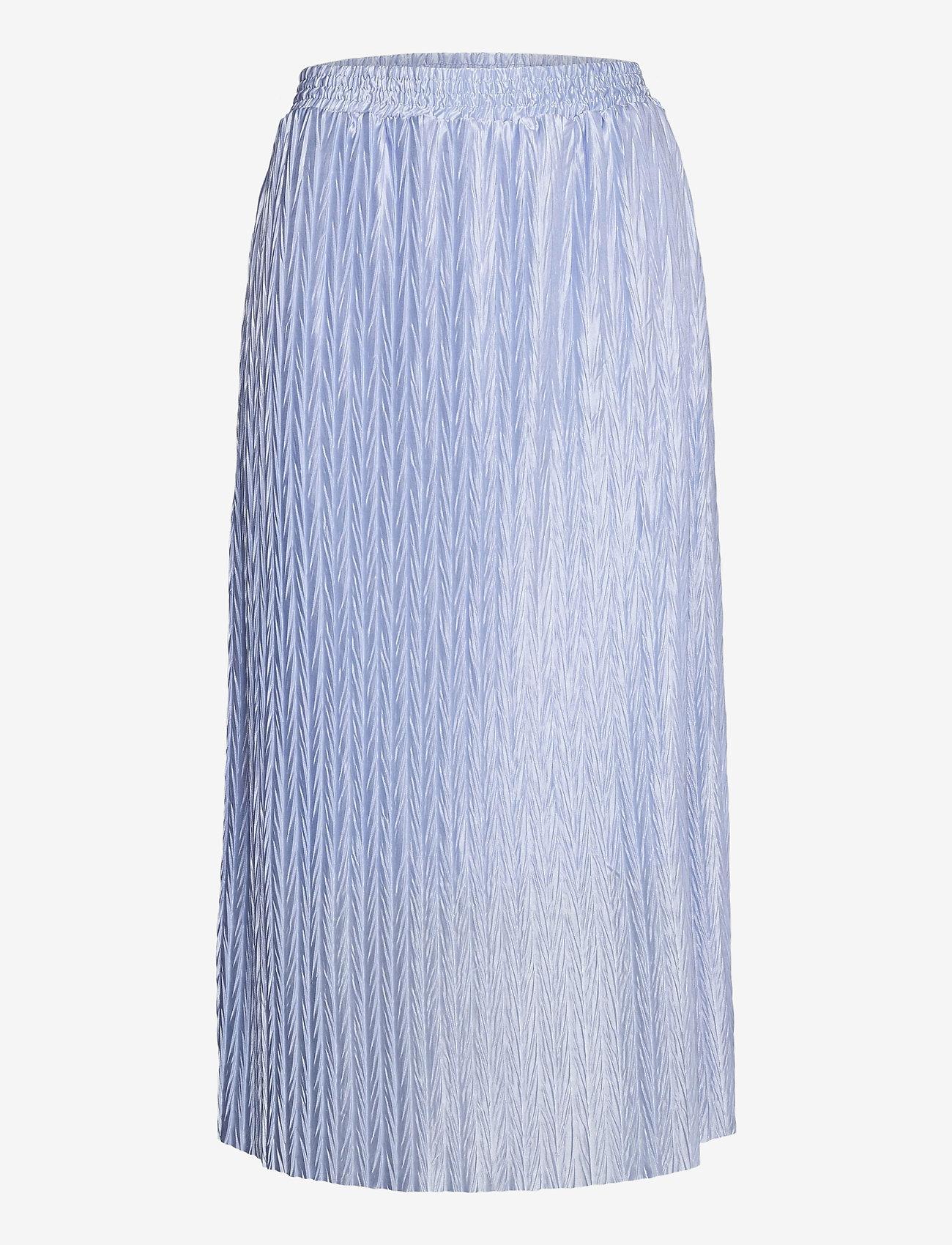 Vila - VIPLEASA HW MIDI SKIRT/DES - maxi skirts - kentucky blue - 0