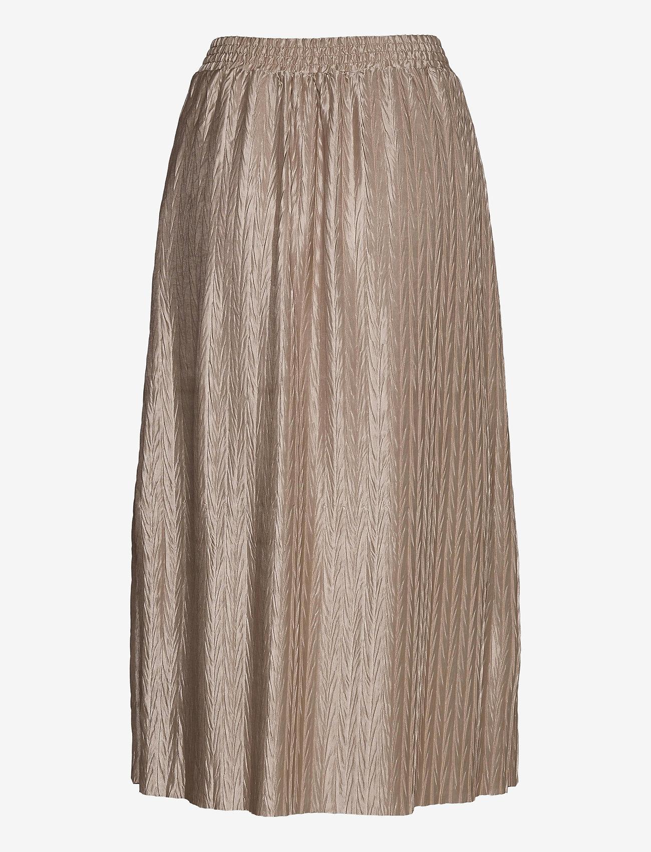 Vila - VIPLEASA HW MIDI SKIRT/DES - maxi skirts - simply taupe - 1