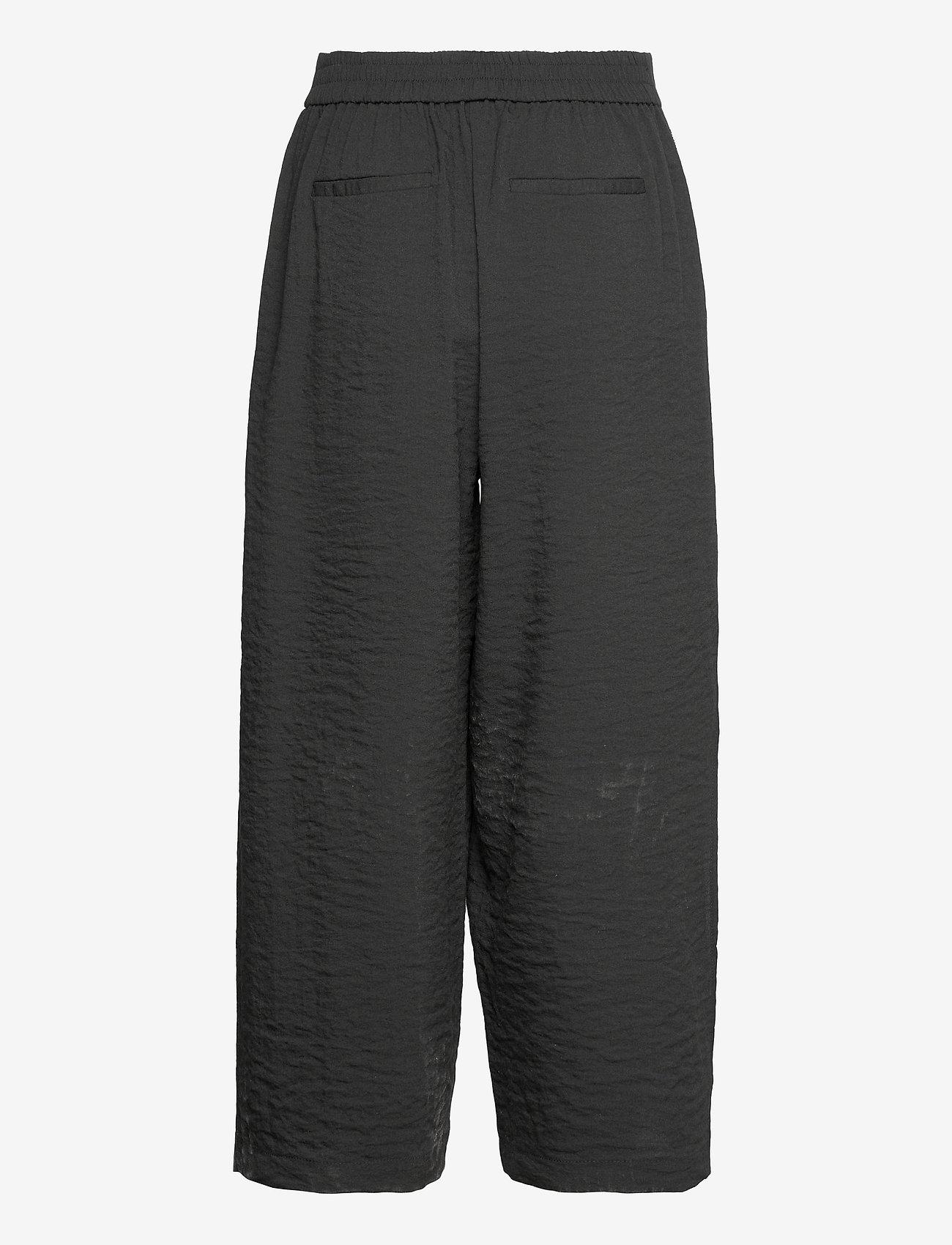 Vila - VILINEA RW 7/8 PANTS/2 - bukser med brede ben - black - 1