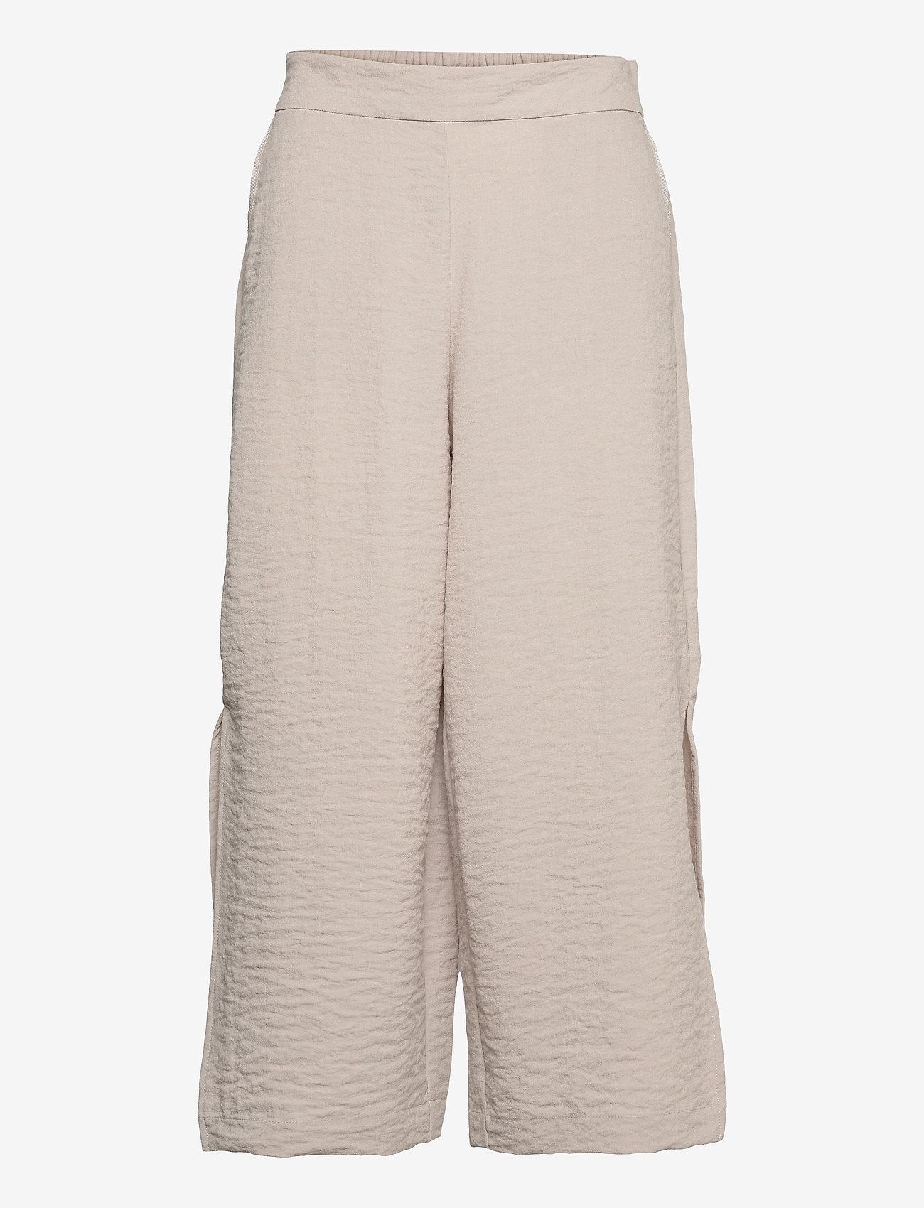 Vila - VILINEA RW 7/8 PANTS/2 - bukser med brede ben - dove - 0