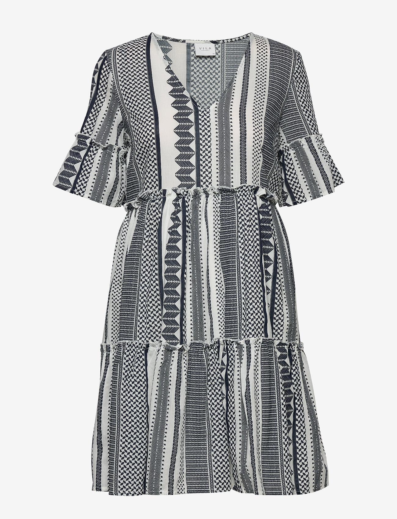 Vila - VIHANNAS 2/4 DRESS - short dresses - snow white