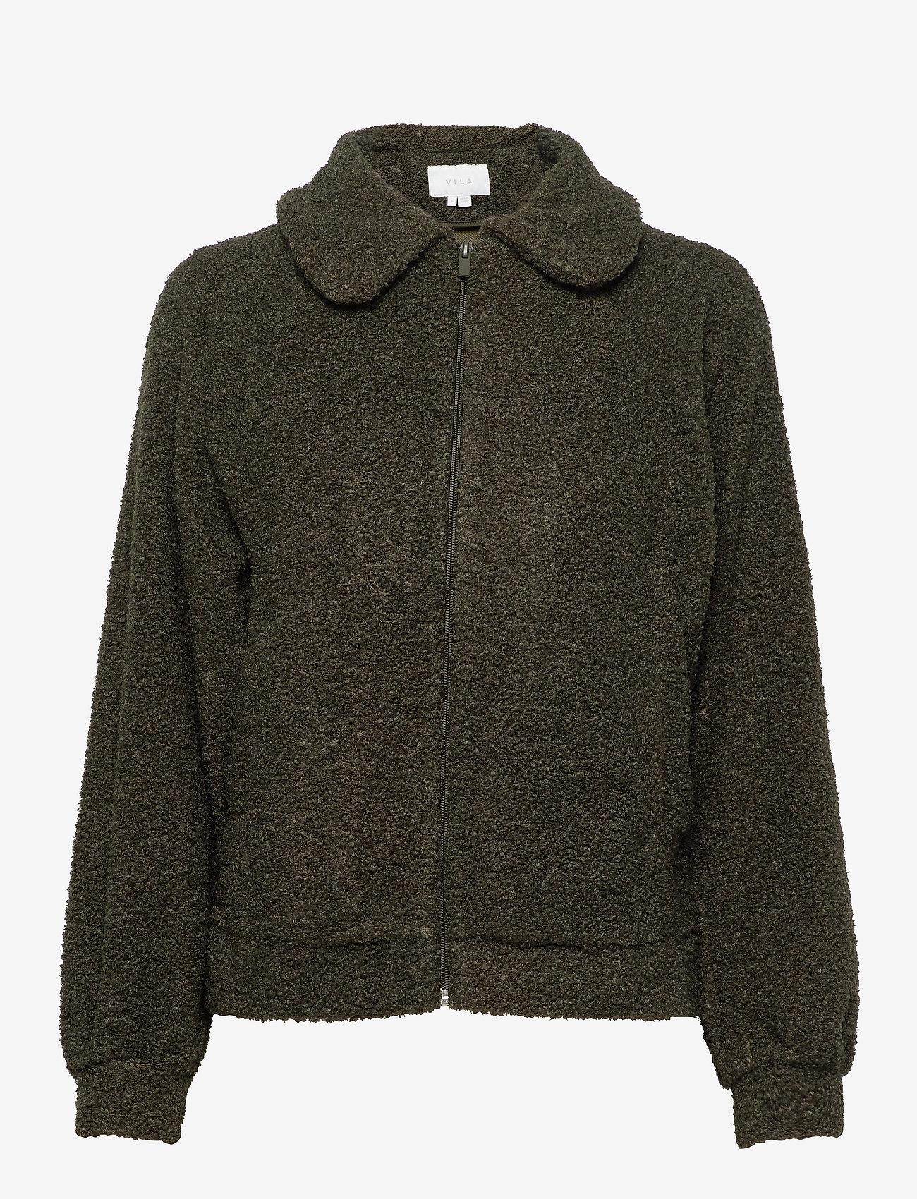 Vila - VIPIP BLOUSON/DES - wool jackets - forest night - 0