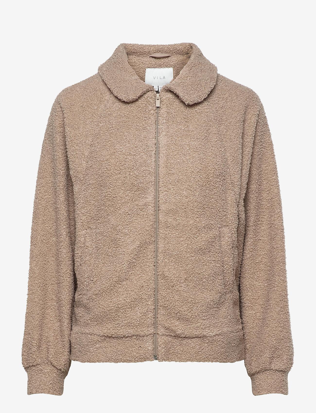 Vila - VIPIP BLOUSON/DES - wool jackets - simply taupe - 0