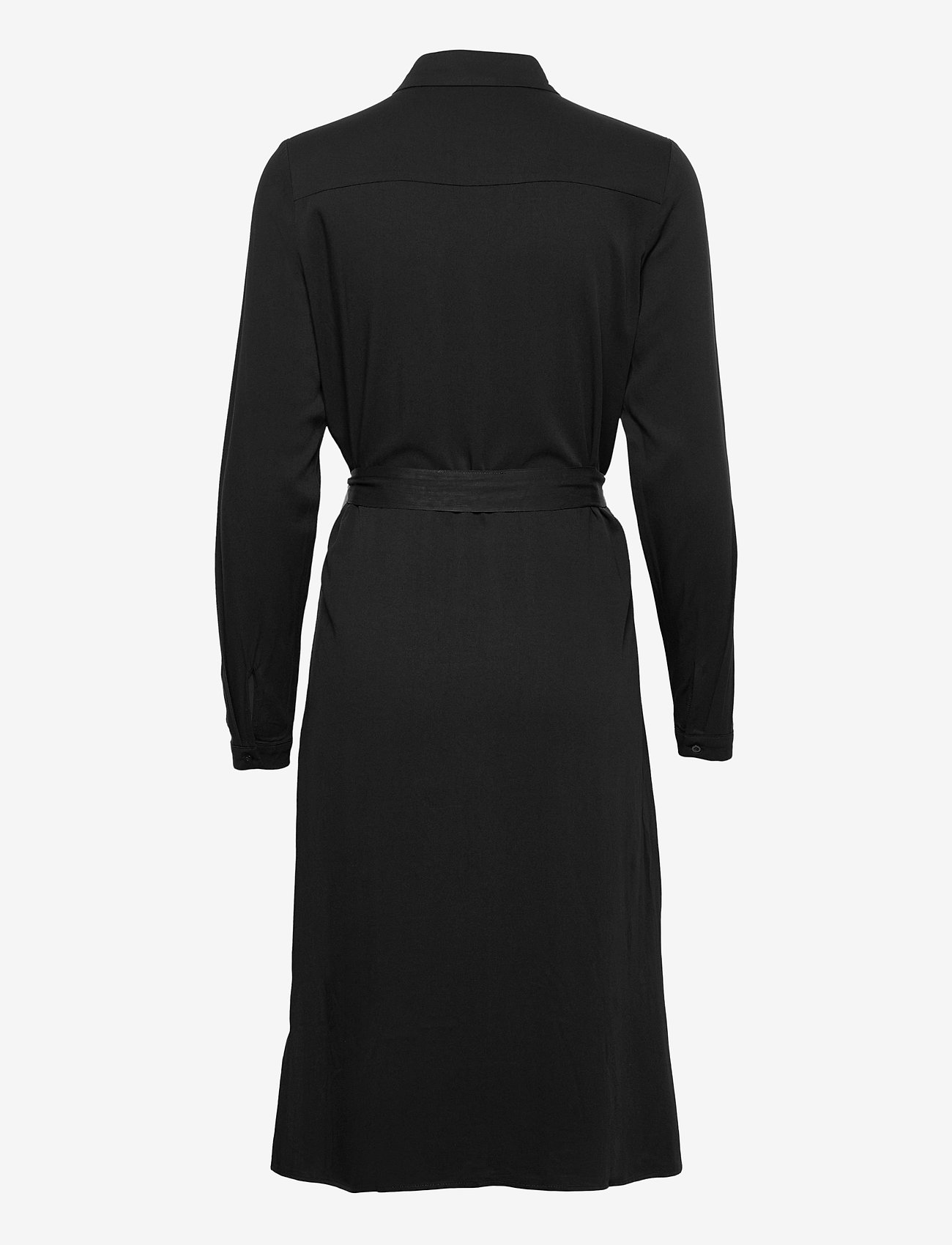 Vila - VIDANIA BELT L/S SHIRT DRESS/SU - - alledaagse jurken - black - 1