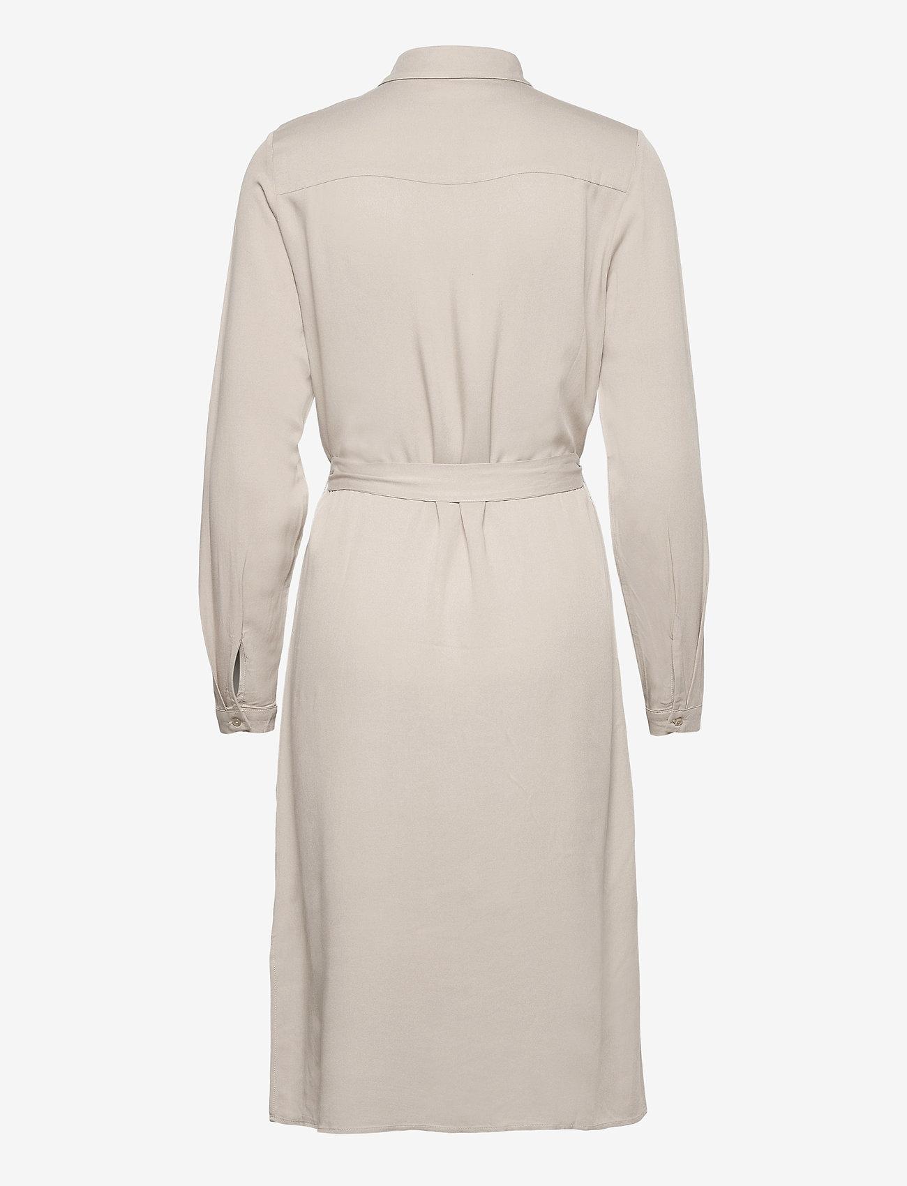 Vila - VIDANIA BELT L/S SHIRT DRESS/SU - - alledaagse jurken - dove - 1