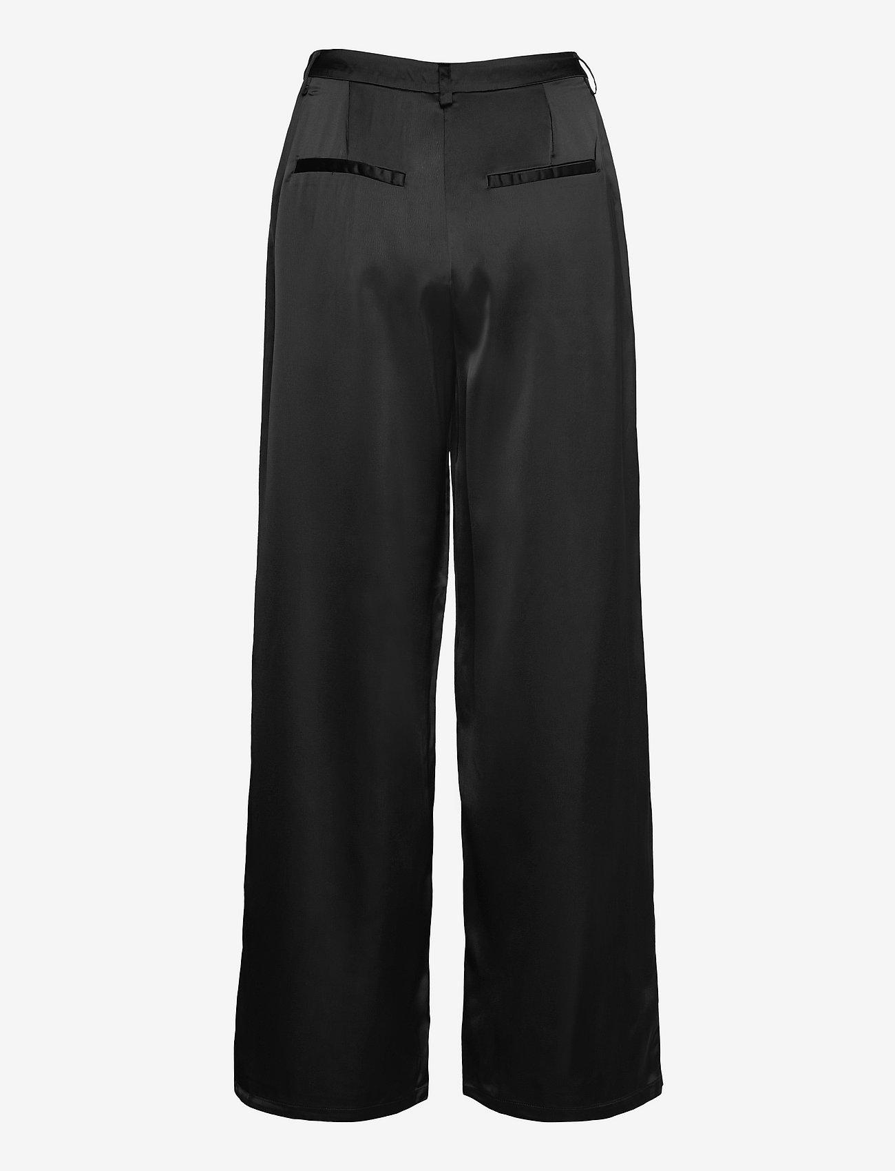 Vila - VIDAYE HWRX WIDE PANTS/SU - bukser med brede ben - black - 1