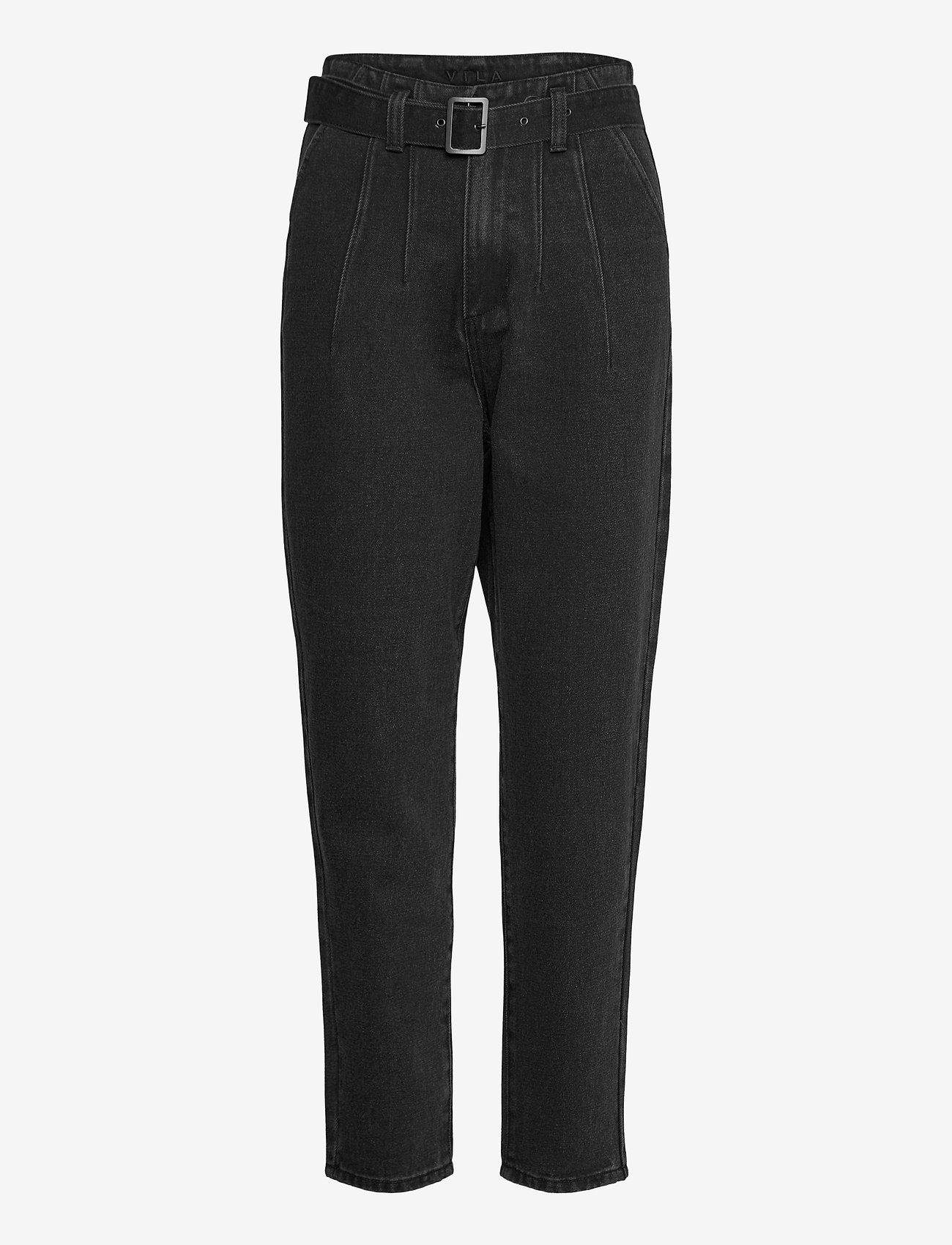 Vila - VIVERBENA HWRE 7/8 JEANS - mom-jeans - dark grey denim - 0