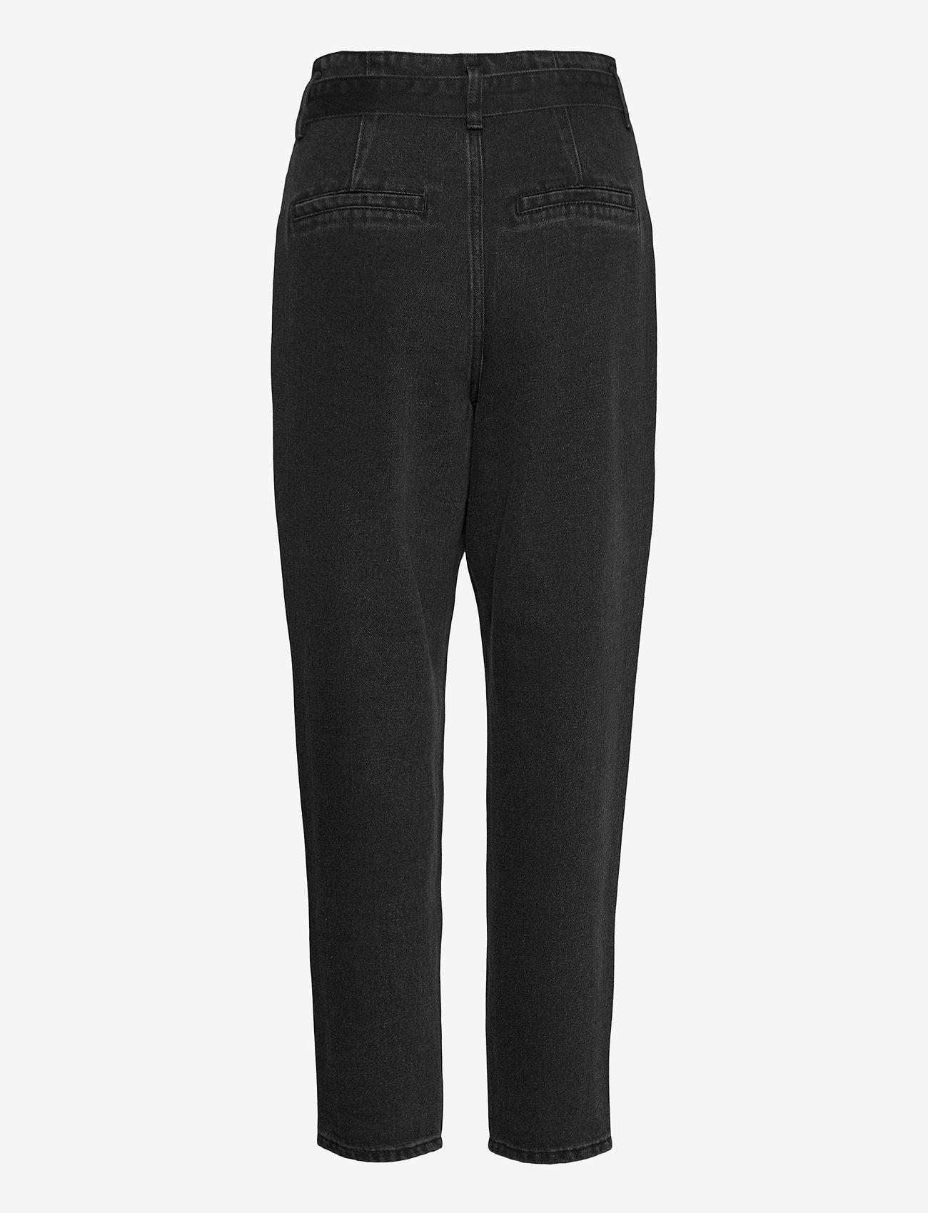 Vila - VIVERBENA HWRE 7/8 JEANS - mom-jeans - dark grey denim - 1