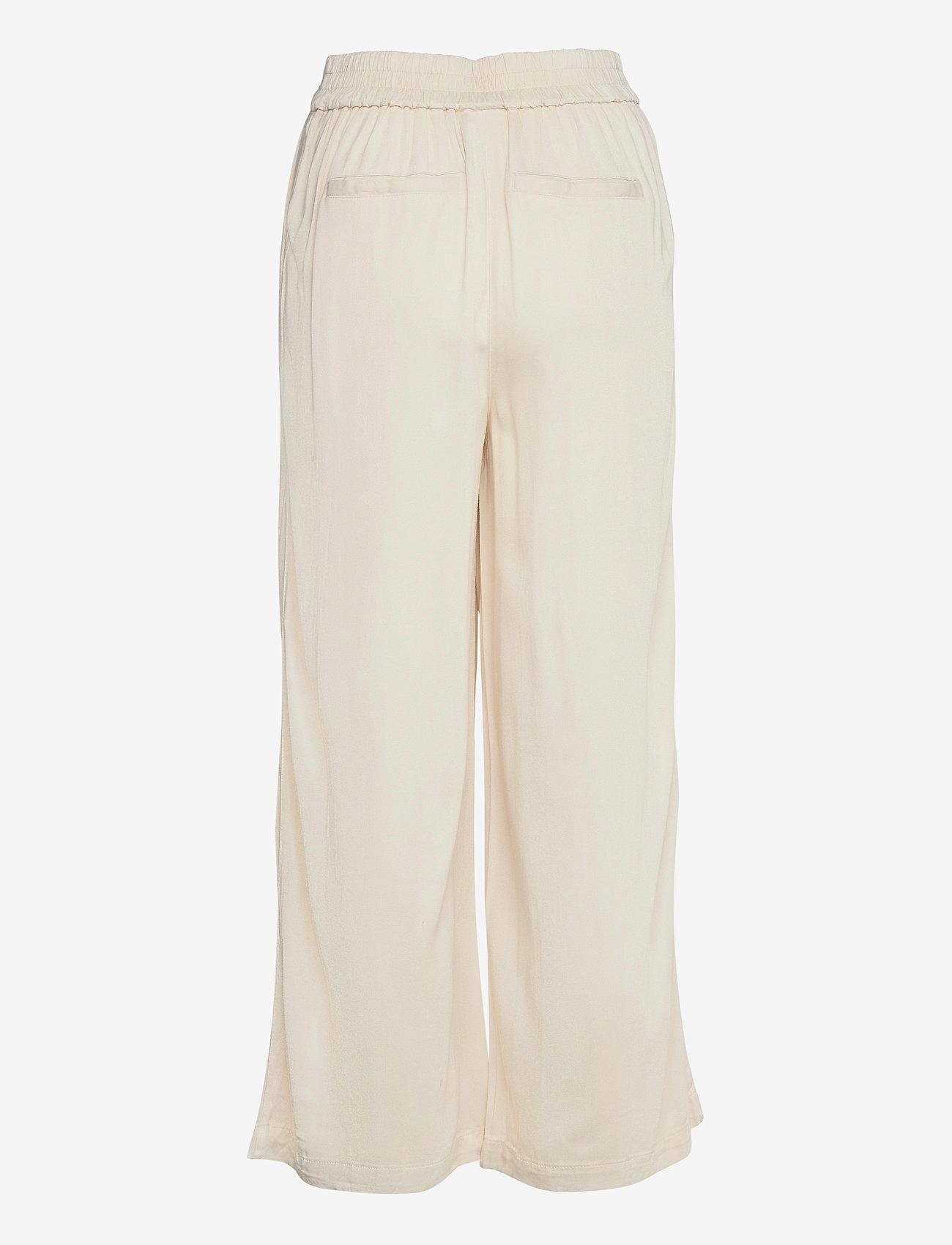 Vila - VIFANZA HW CROPPED PANTS/PB - bukser med brede ben - birch - 1
