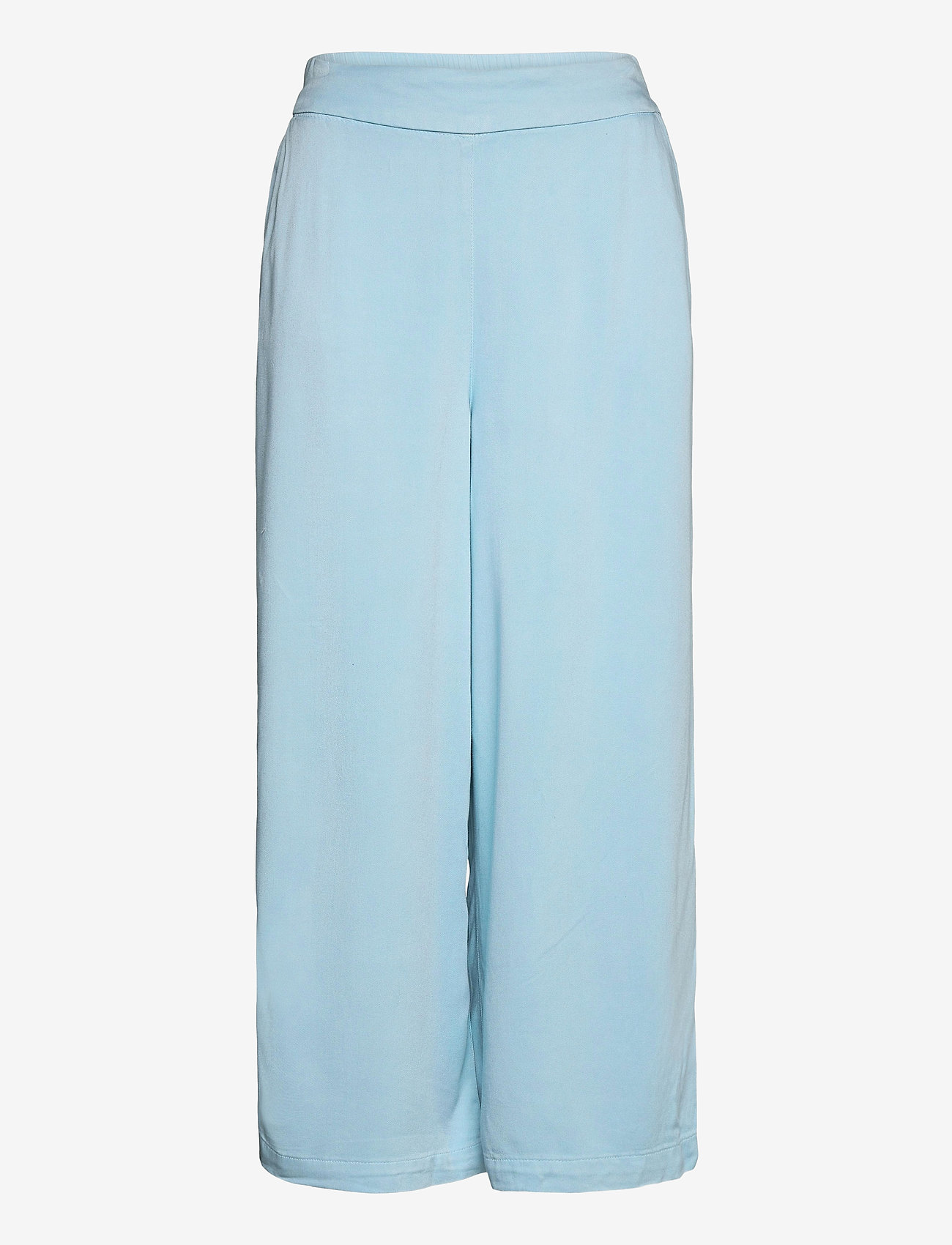 Vila - VIFANZA HW CROPPED PANTS/PB - bukser med brede ben - light blue denim - 0