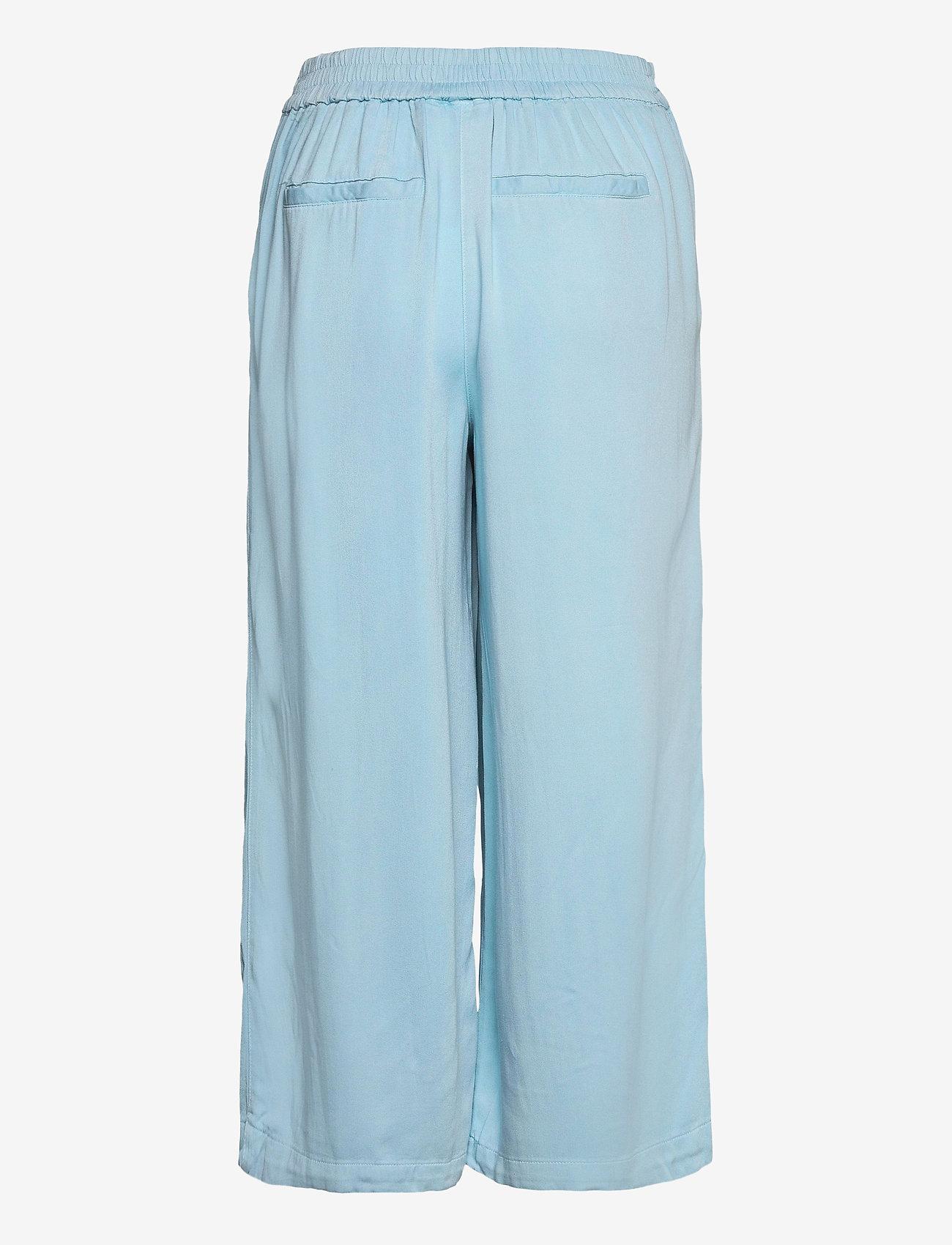 Vila - VIFANZA HW CROPPED PANTS/PB - bukser med brede ben - light blue denim - 1