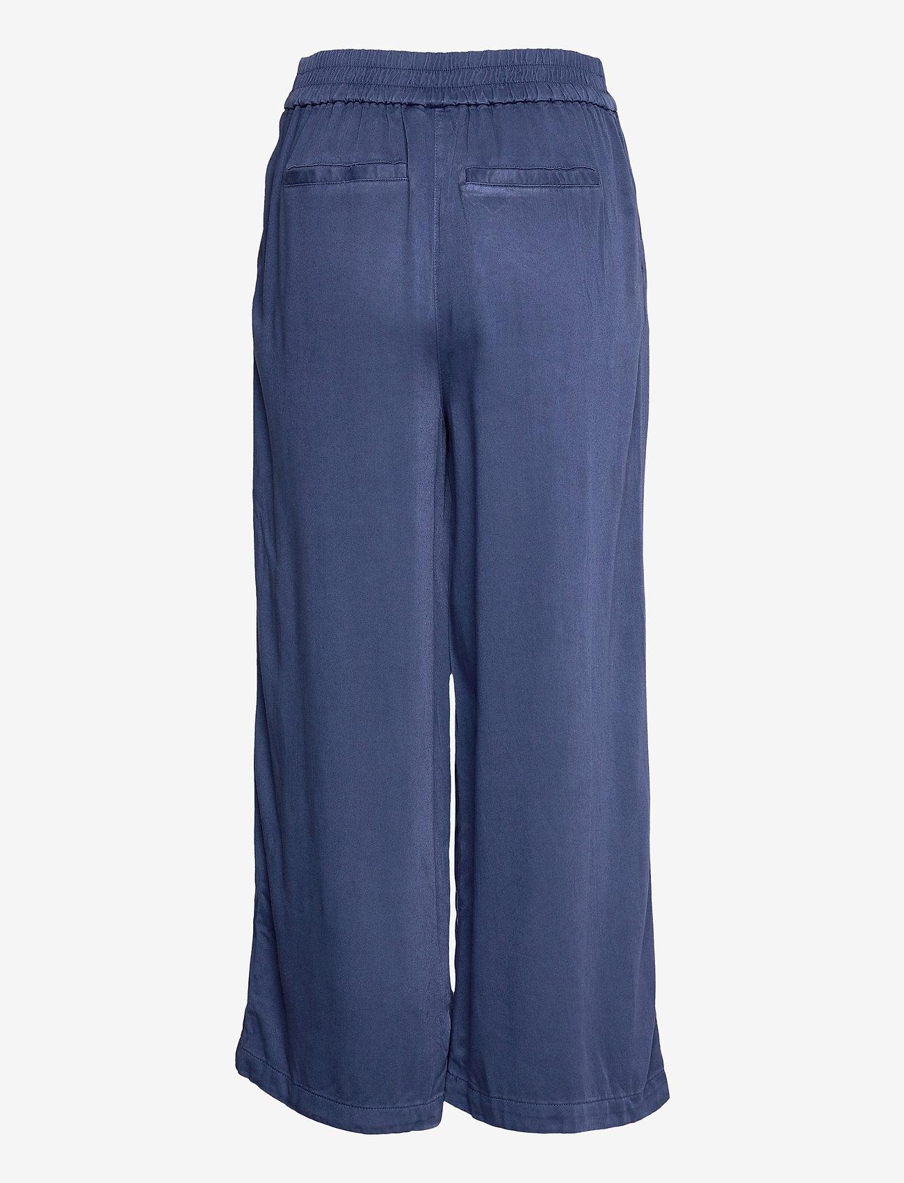 Vila - VIFANZA HW CROPPED PANTS/PB - bukser med brede ben - medium blue denim - 1