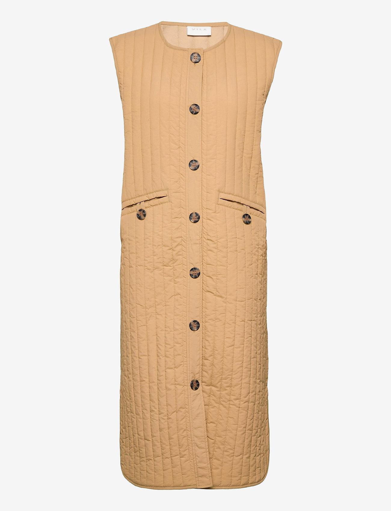 Vila - VITHEASA S/L WAISTCOAT - puffer vests - nomad - 0