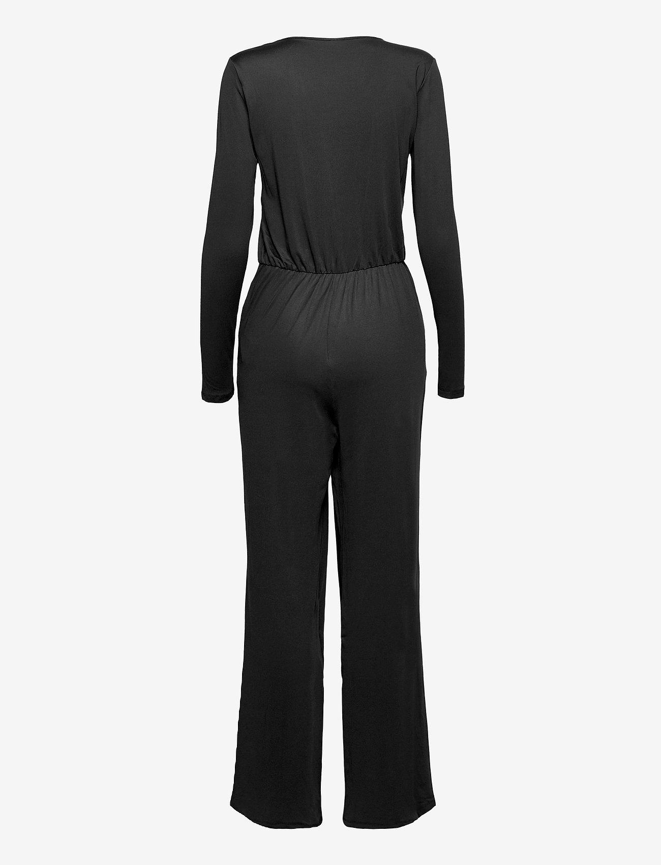 Vila - VILEOA 2/4 JUMPSUIT/OFW - jumpsuits - black - 1