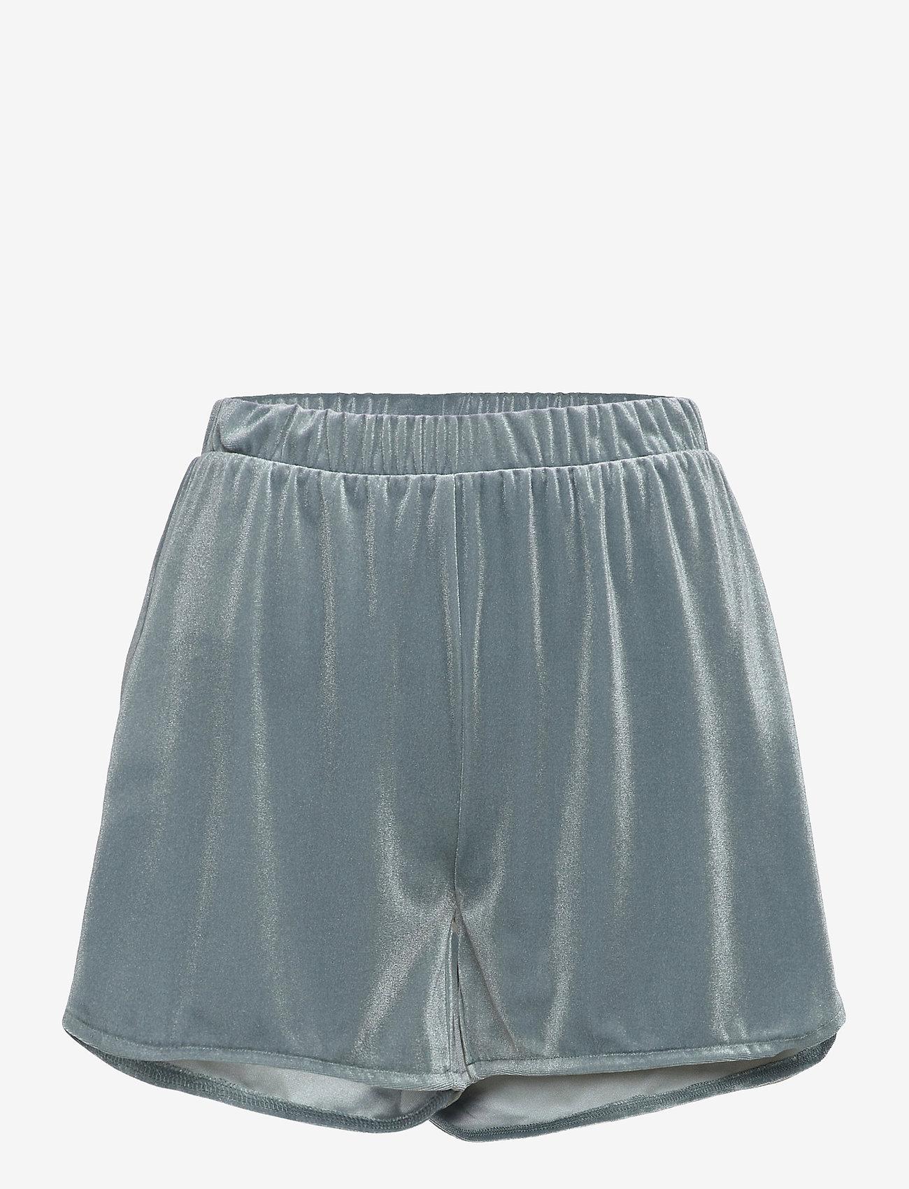 Vila - VIVELVETTA RW SHORTS - shorts casual - goblin blue - 0