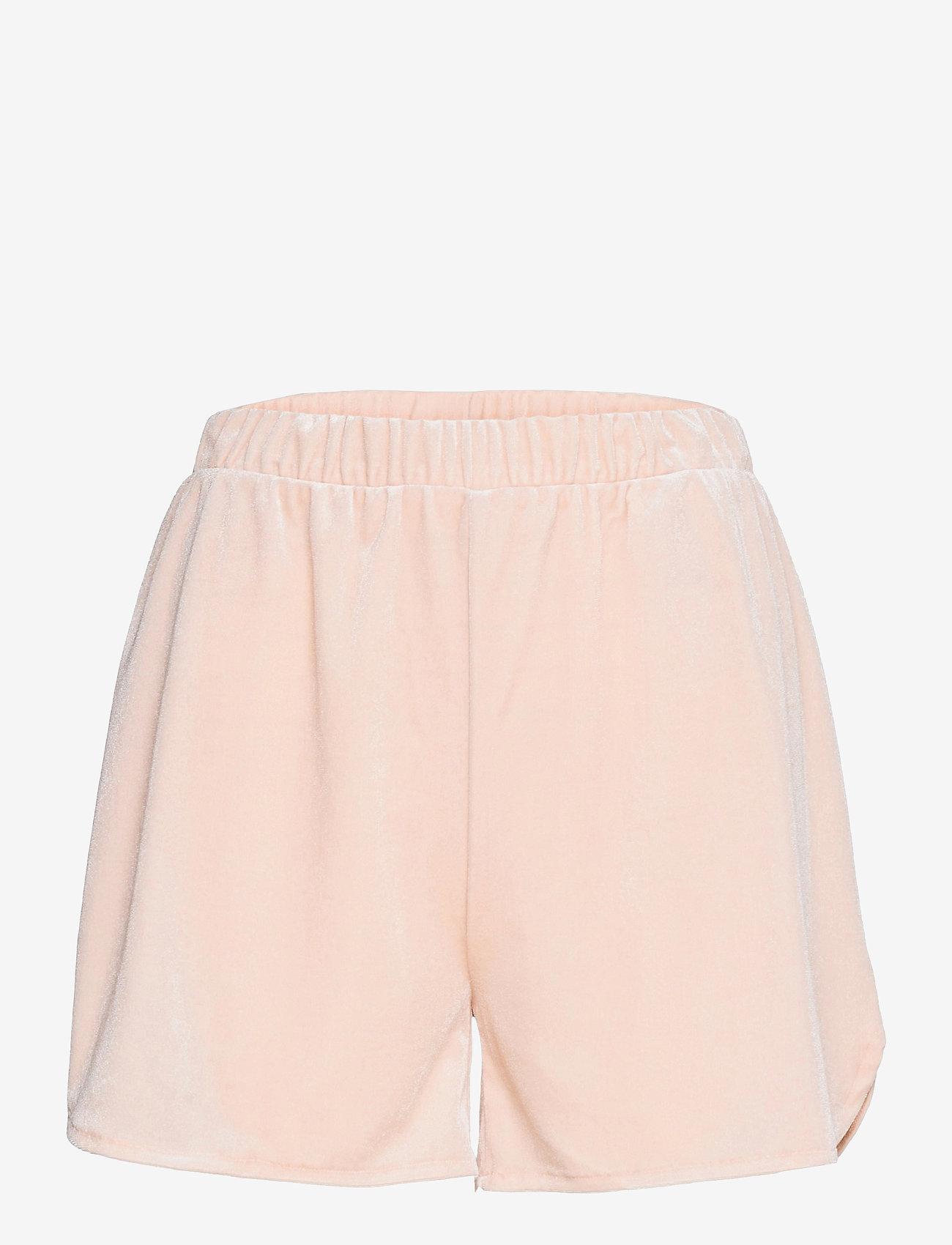Vila - VIVELVETTA RW SHORTS - shorts casual - peach blush - 0