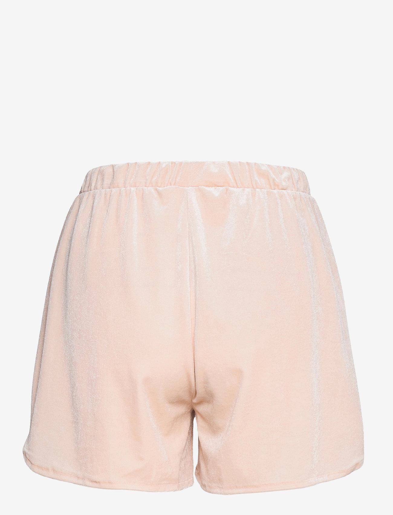 Vila - VIVELVETTA RW SHORTS - shorts casual - peach blush - 1